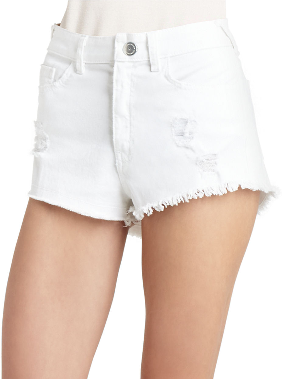 Shop Hapari Swimwear for the modest white tummy tuk high waisted swim short. These shorts are comfortable and appropriate for the beach or pool.