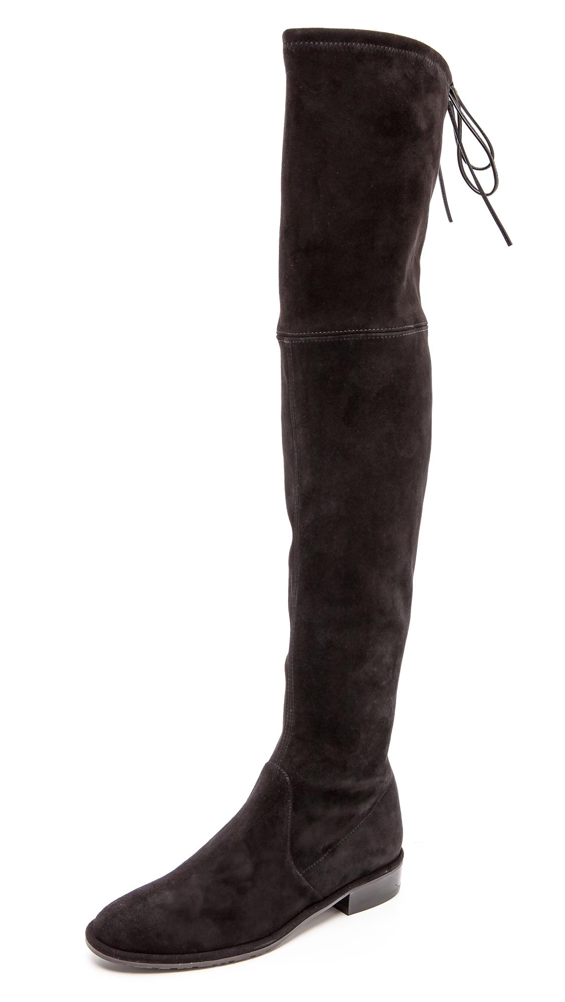 stuart weitzman 5050 suede the knee boot in black lyst