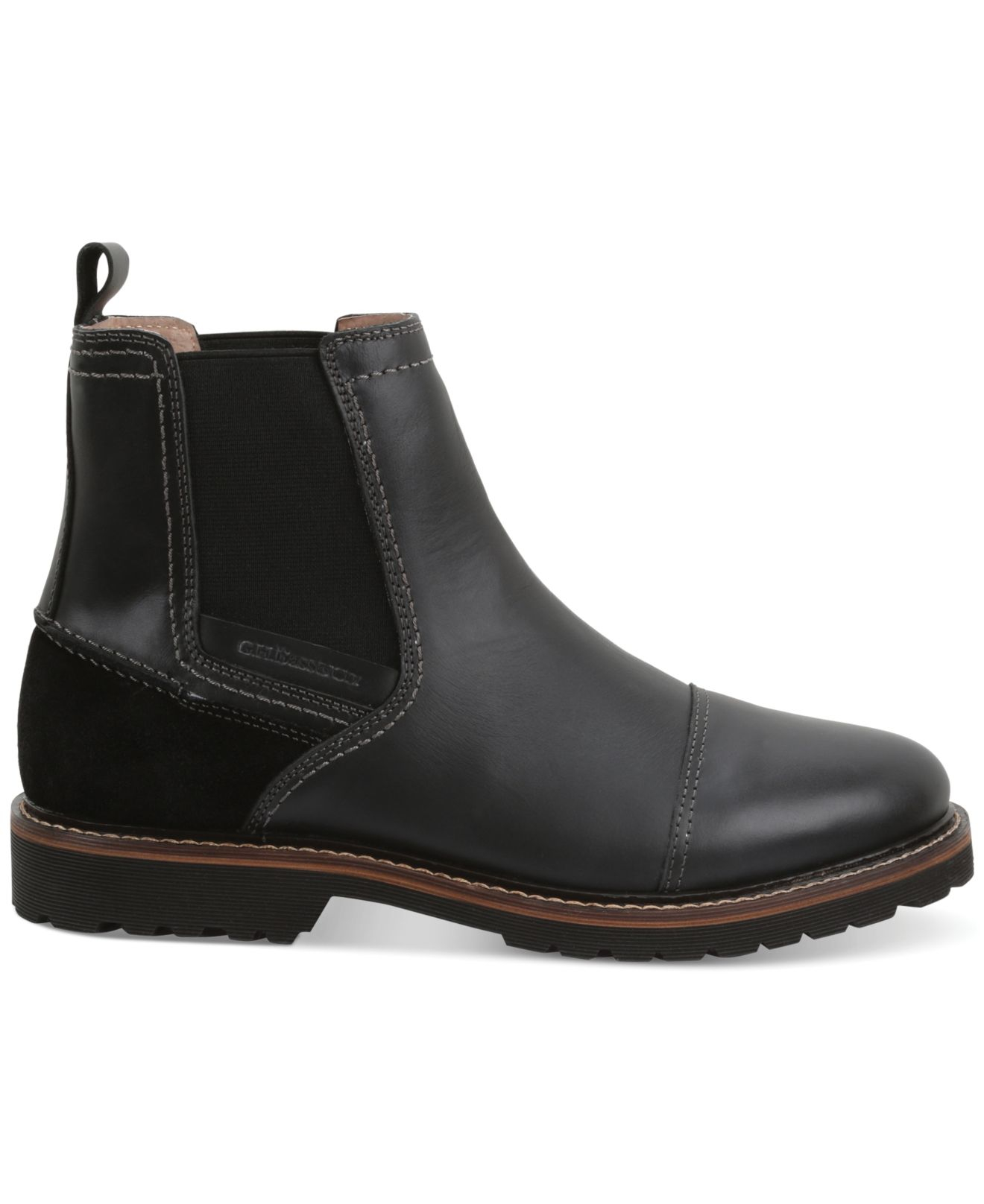 g h bass co bass erving cap toe chelsea boots in black