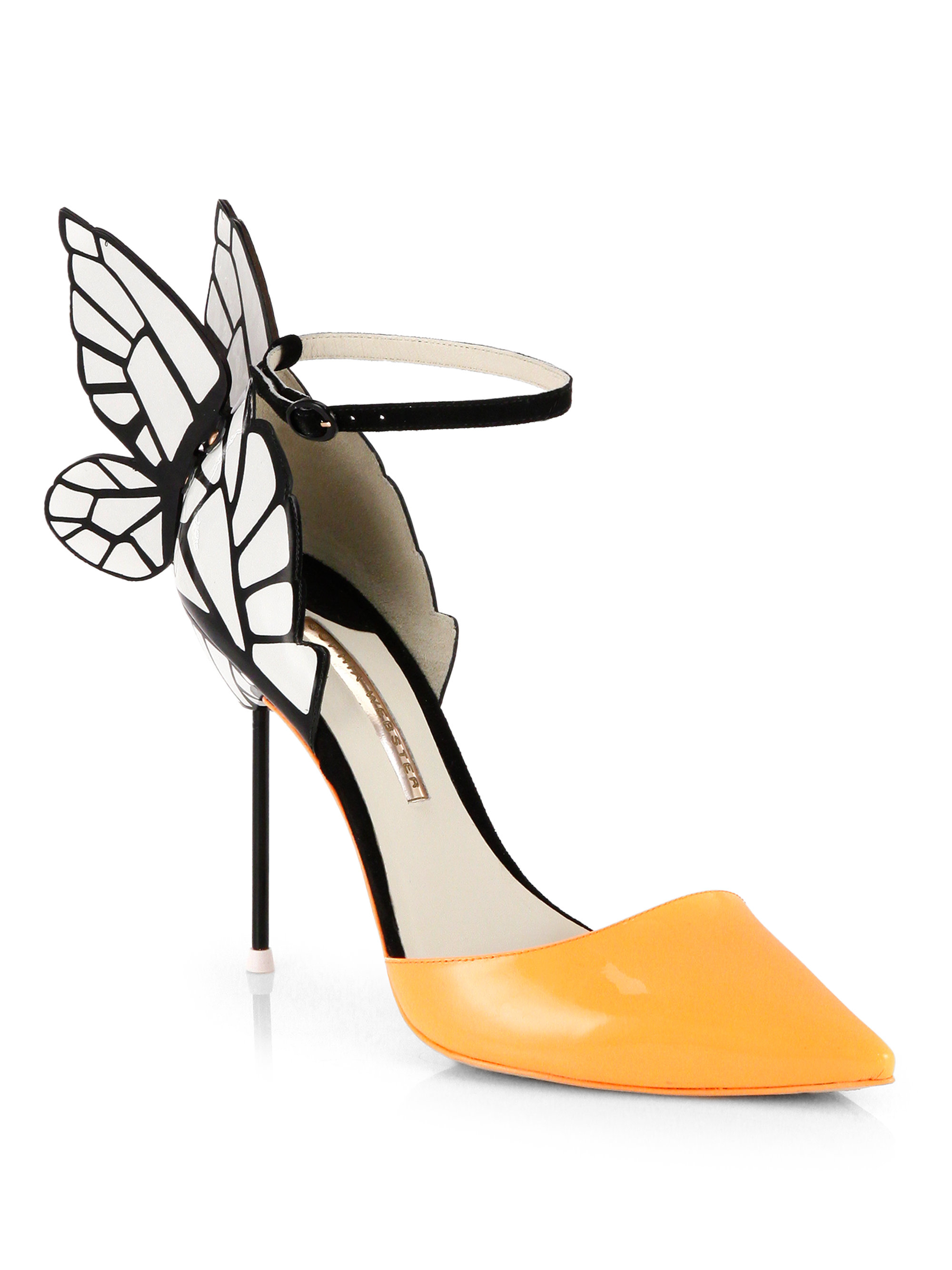 Sophia Webster Clara Patent Leather Butterfly Dorsay Pumps