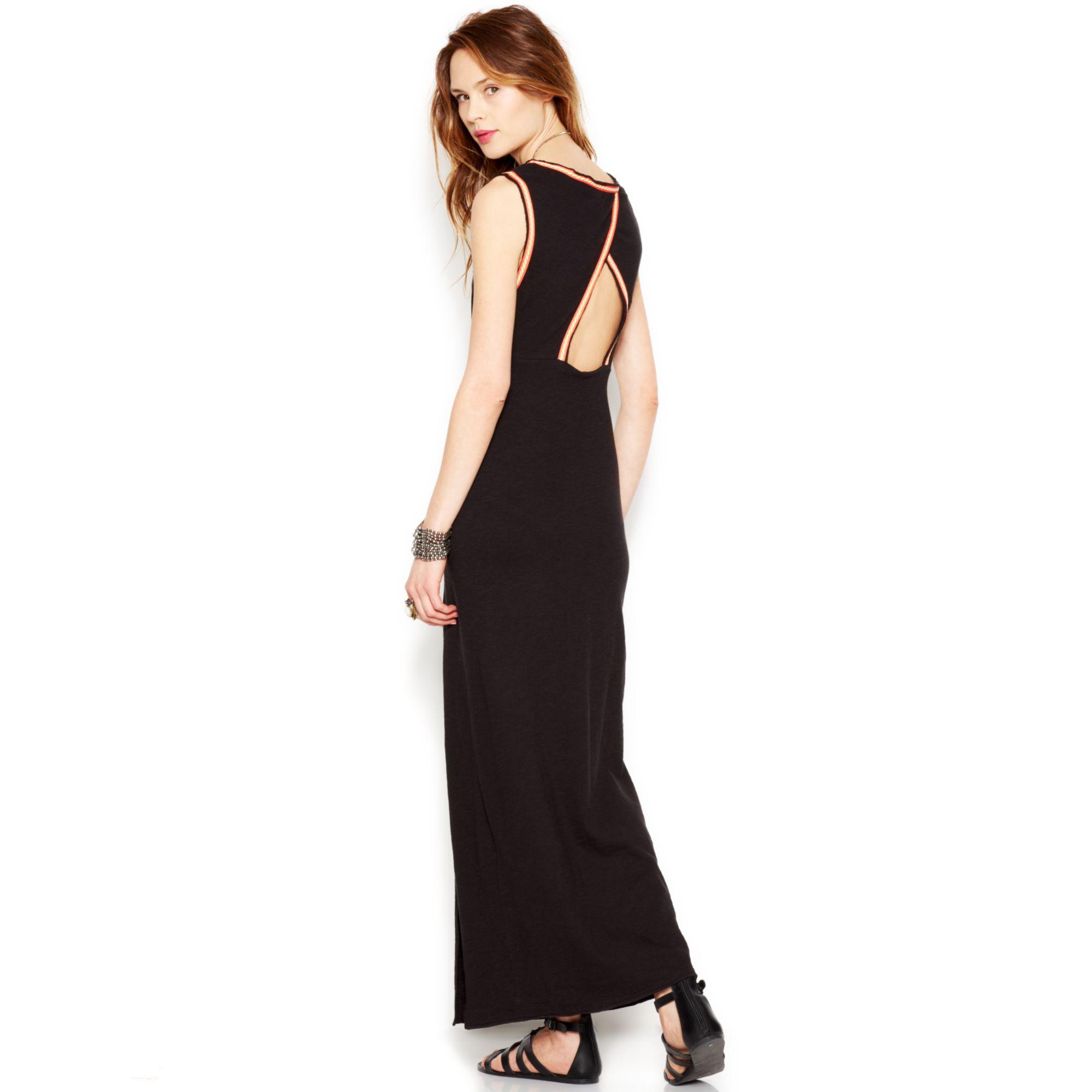 ee002bc73840d Lyst - Free People Sabrina Maxi Dress in Black