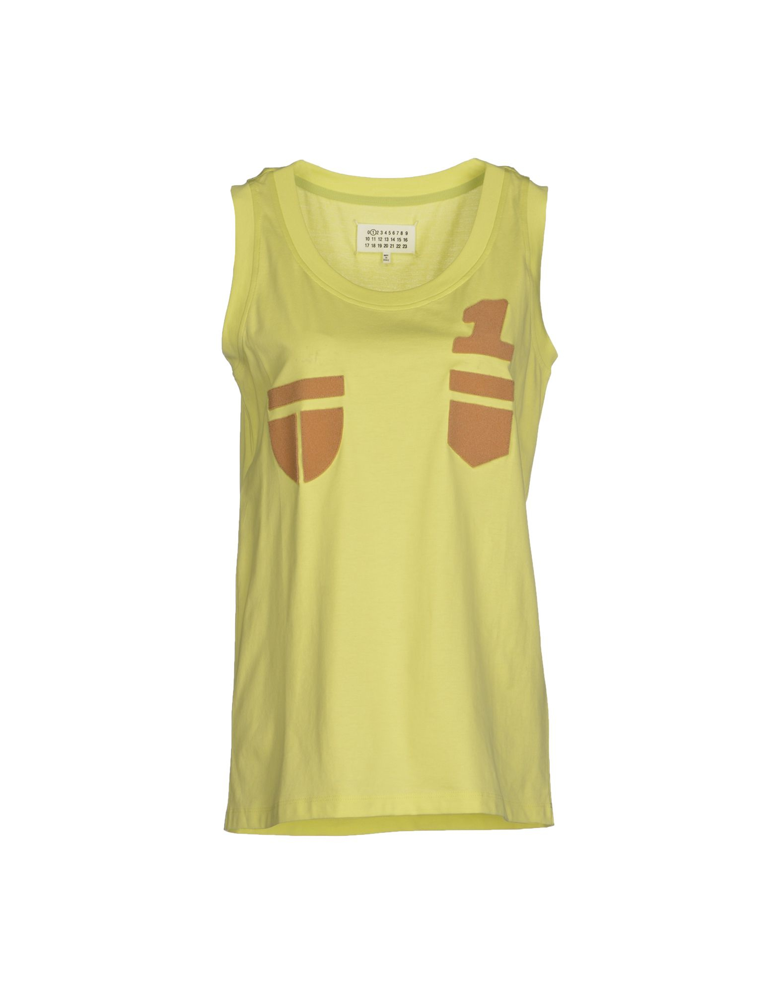 maison margiela t shirt in yellow lyst