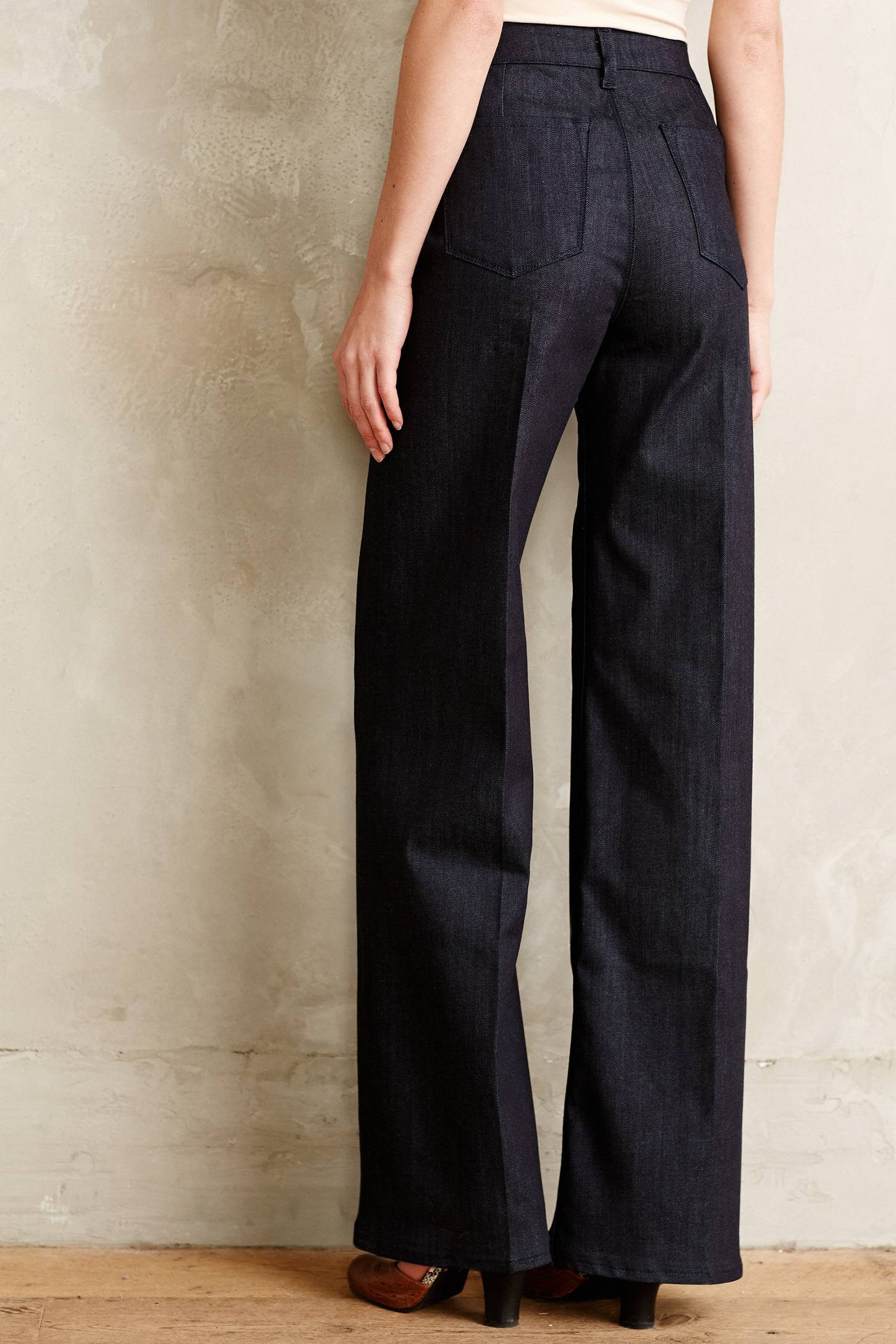 J brand Eva Wide-Leg Jeans in Blue | Lyst