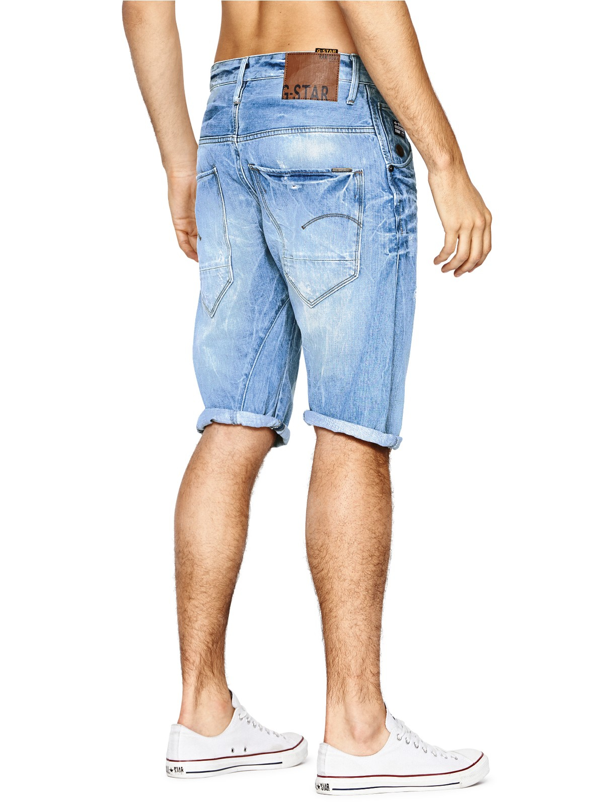 star raw arc 3d loose tapered bermuda mens shorts in blue for men. Black Bedroom Furniture Sets. Home Design Ideas