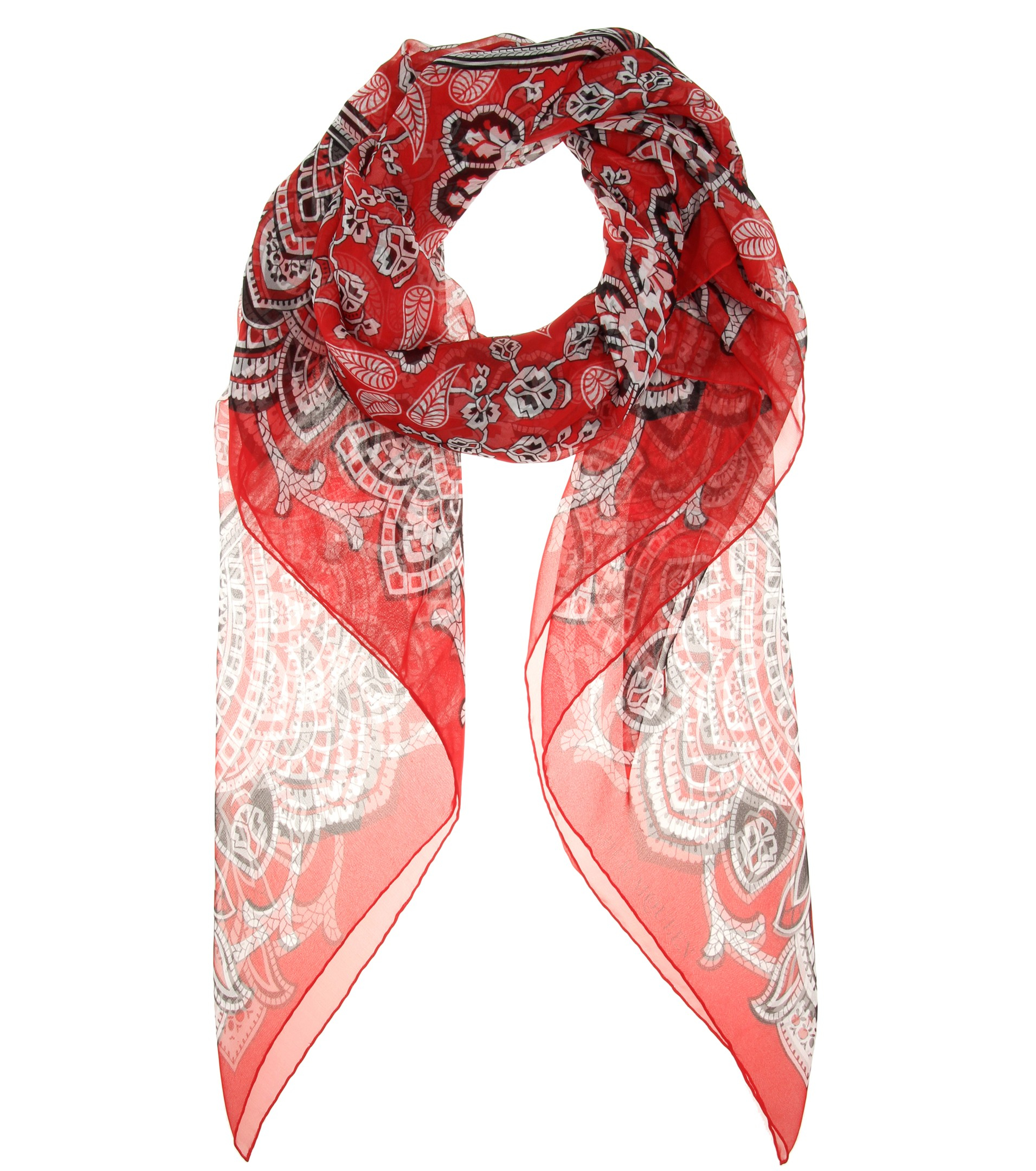 mcqueen printed silk scarf in lyst