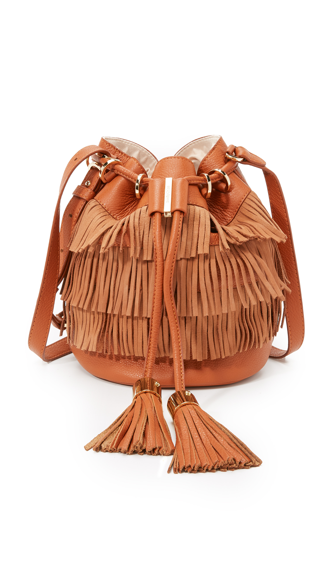 Lyst - See By Chloé Fringe Vicki Bucket Bag in Brown c94f3d0f4898d