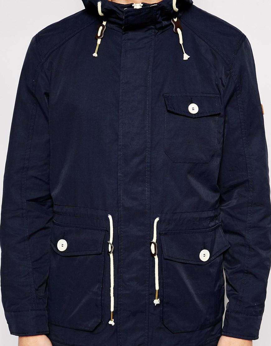 Blend Hooded Jacket Lightweight Parka in Blue for Men   Lyst