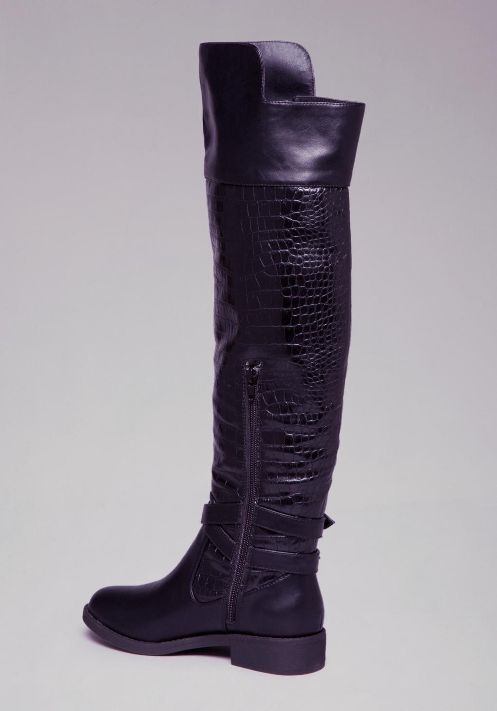 Bebe Karter Flat Boots in Black