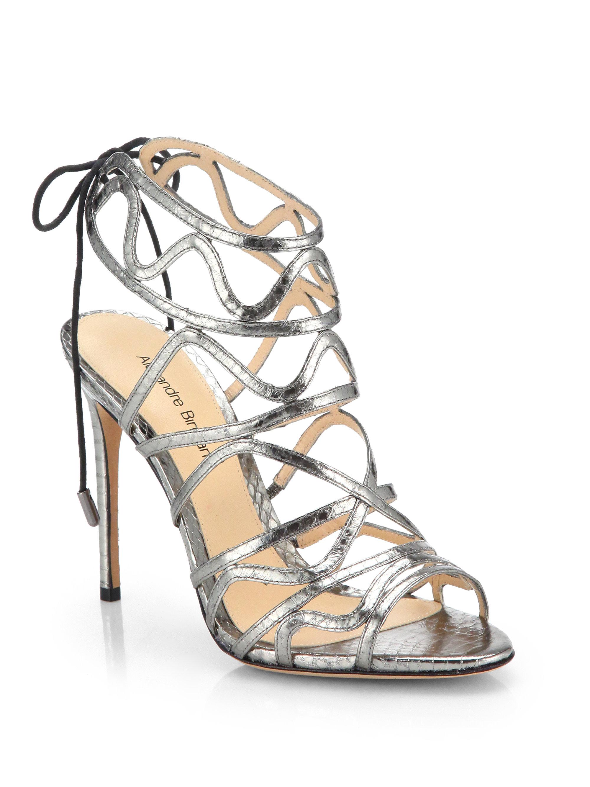 Silver Caged Heels | Tsaa Heel