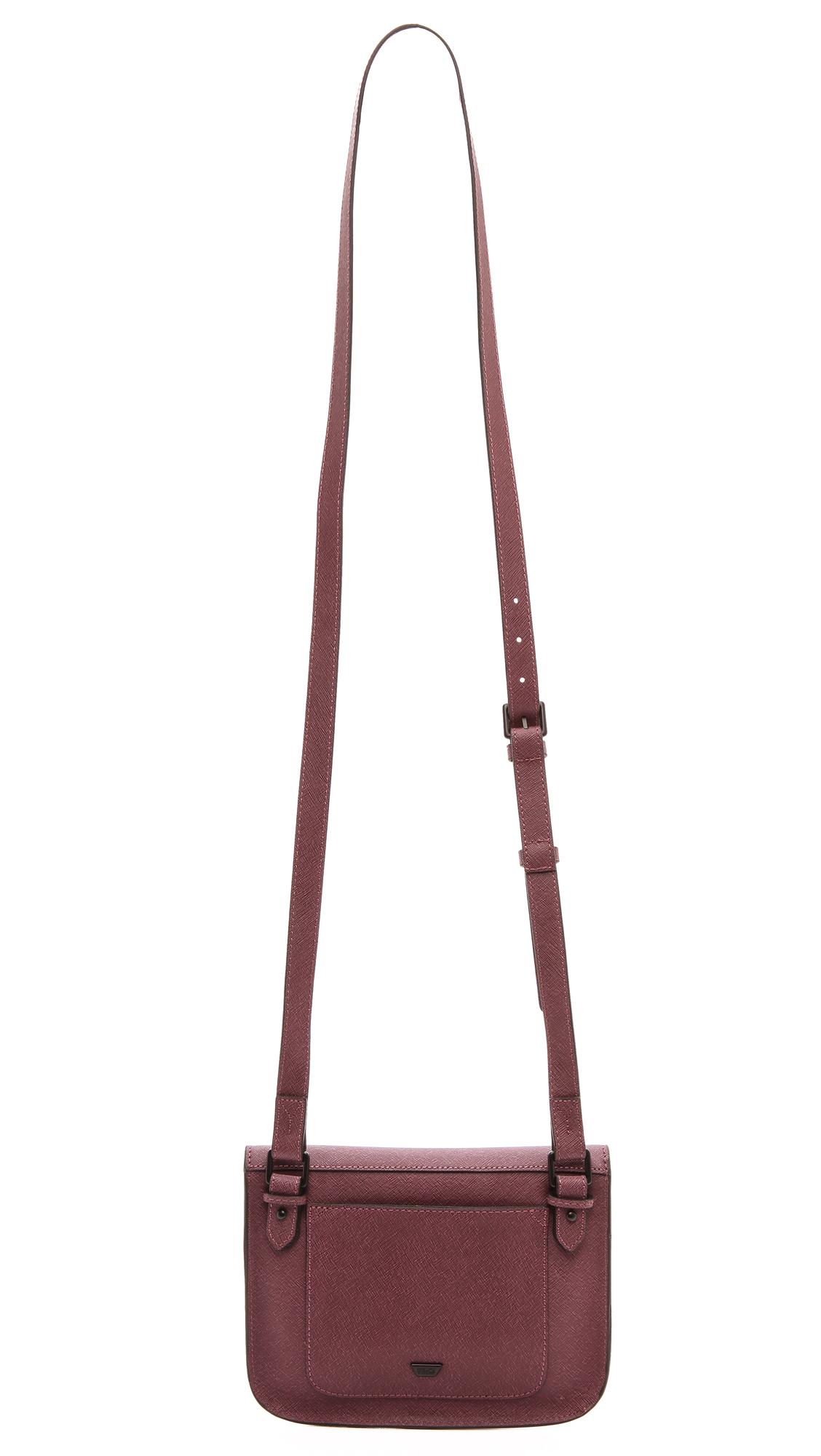 IIIBeCa by Joy Gryson Church Street Cross Body Bag - Black in Berry (Purple)