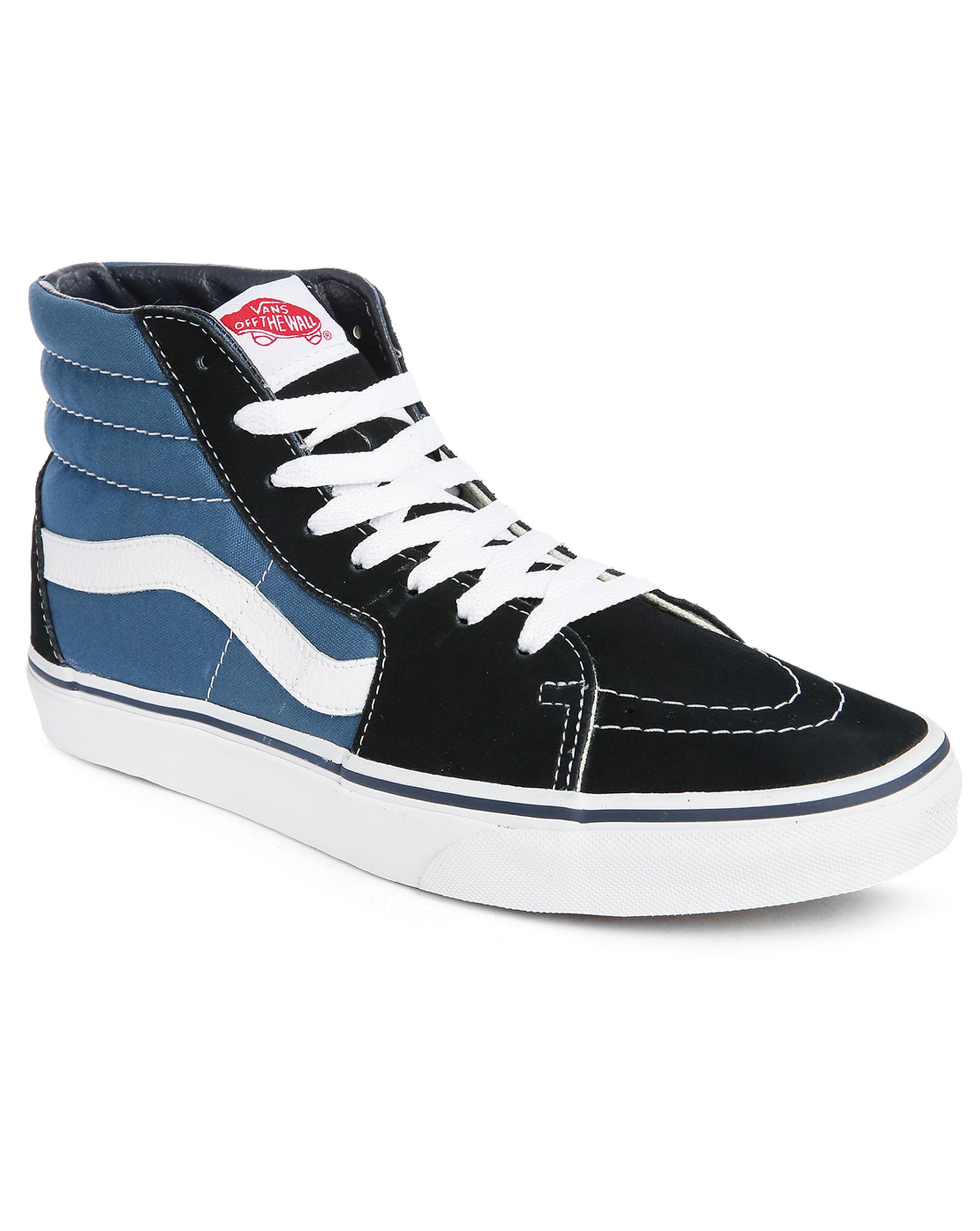 vans black blue sk8 hi sneakers in black for men lyst. Black Bedroom Furniture Sets. Home Design Ideas