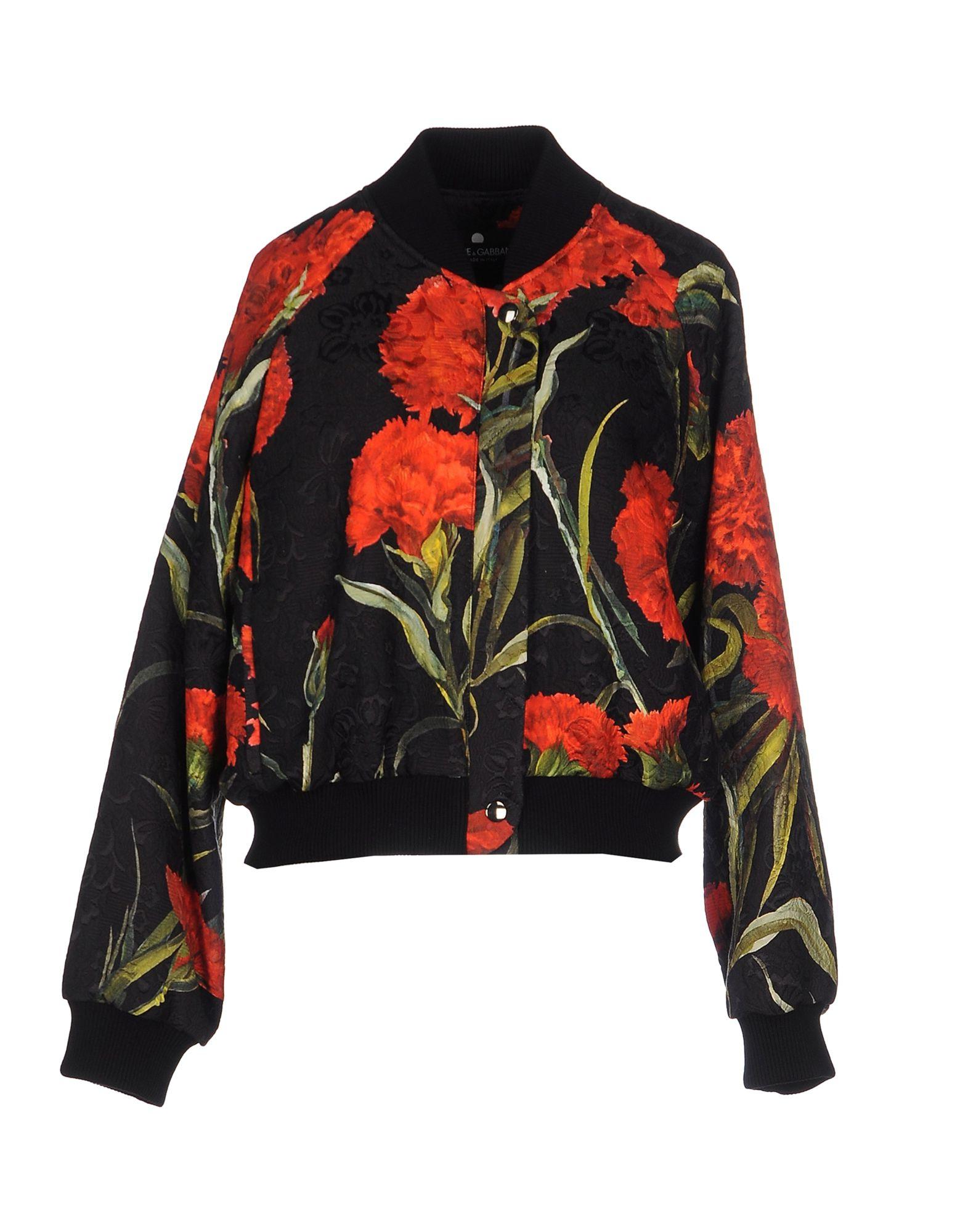 dolce gabbana jacket in floral black lyst. Black Bedroom Furniture Sets. Home Design Ideas