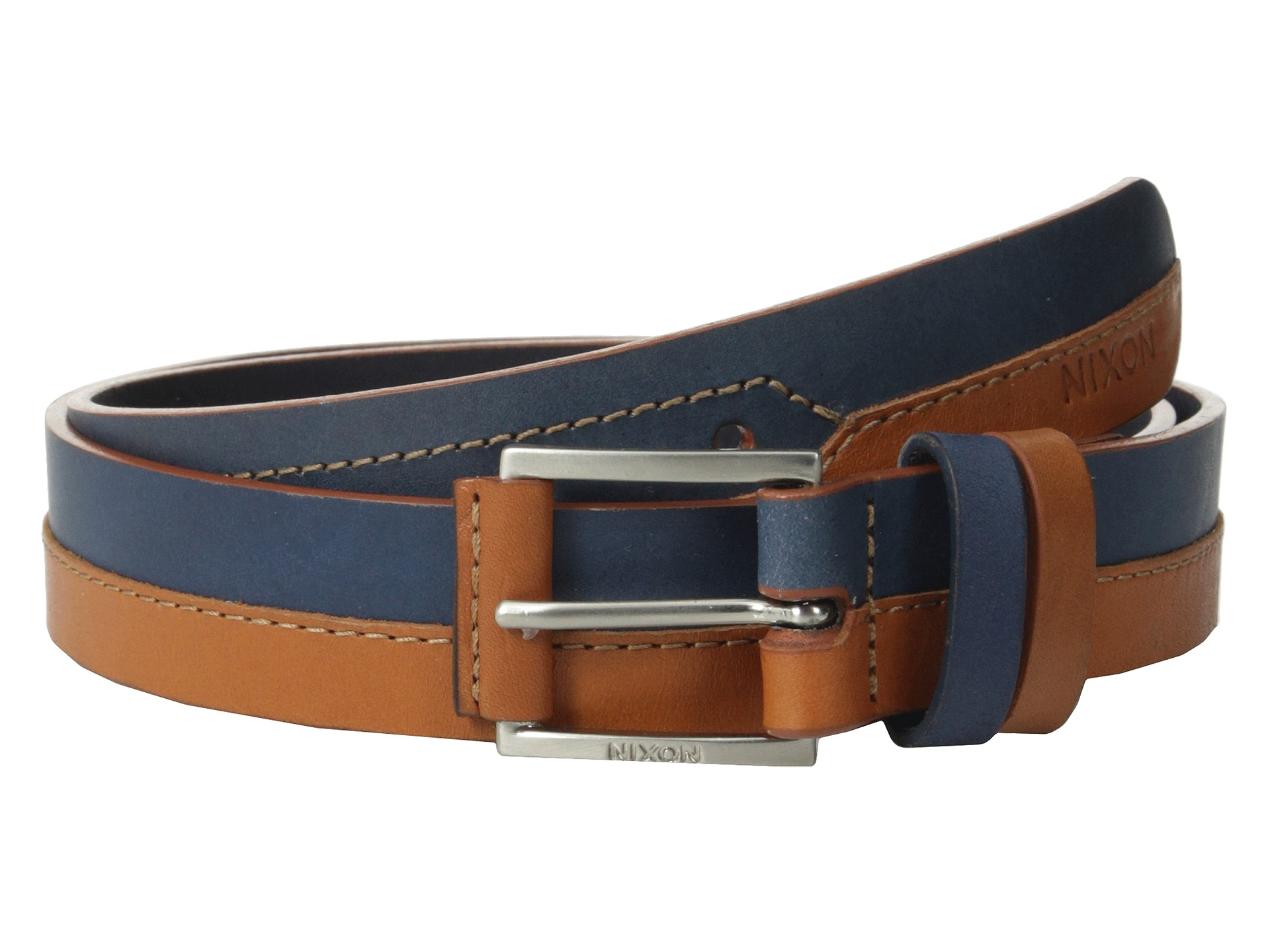 nixon halve belt in blue lyst