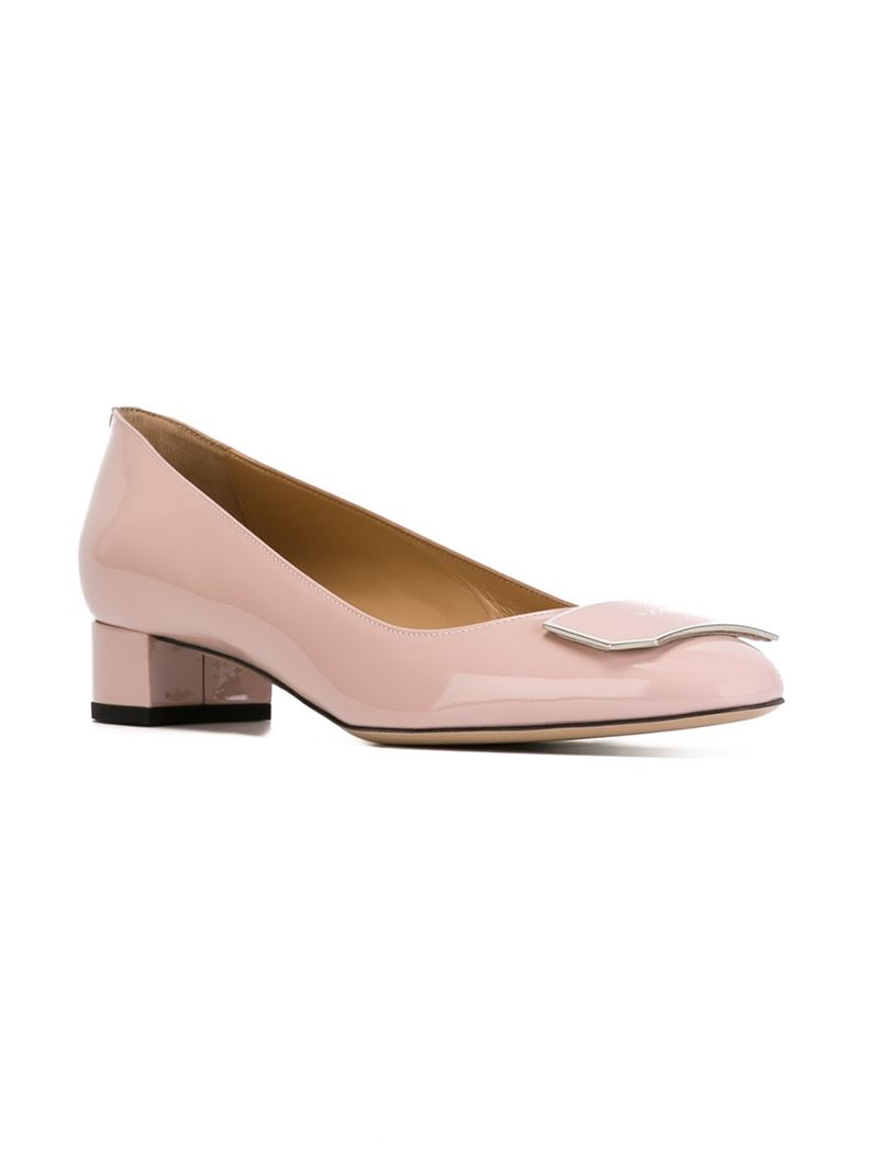 807f0e540cfe5 Lyst - Bally Heline Patent Pumps in Natural