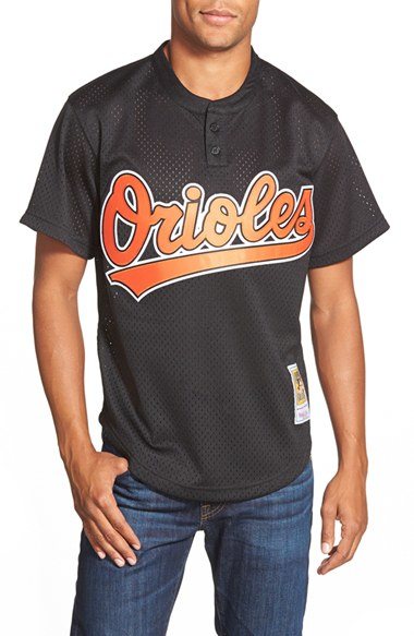 cheap for discount cb108 801eb Mitchell & Ness Black 'cal Ripken Jr. - Baltimore Orioles' Authentic Mesh  Bp Jersey for men