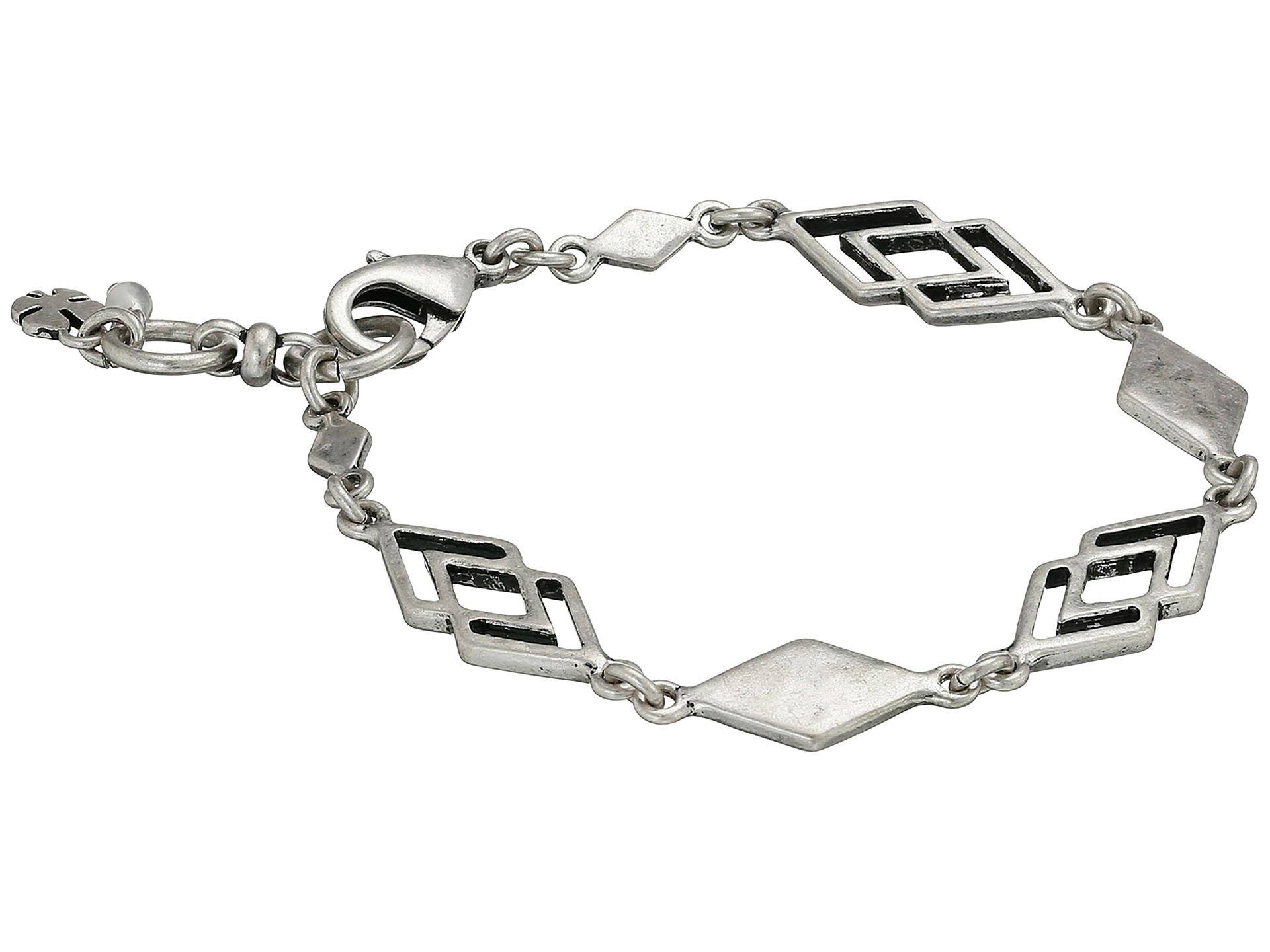 lyst lucky brand silver geo flex bracelet in metallic. Black Bedroom Furniture Sets. Home Design Ideas
