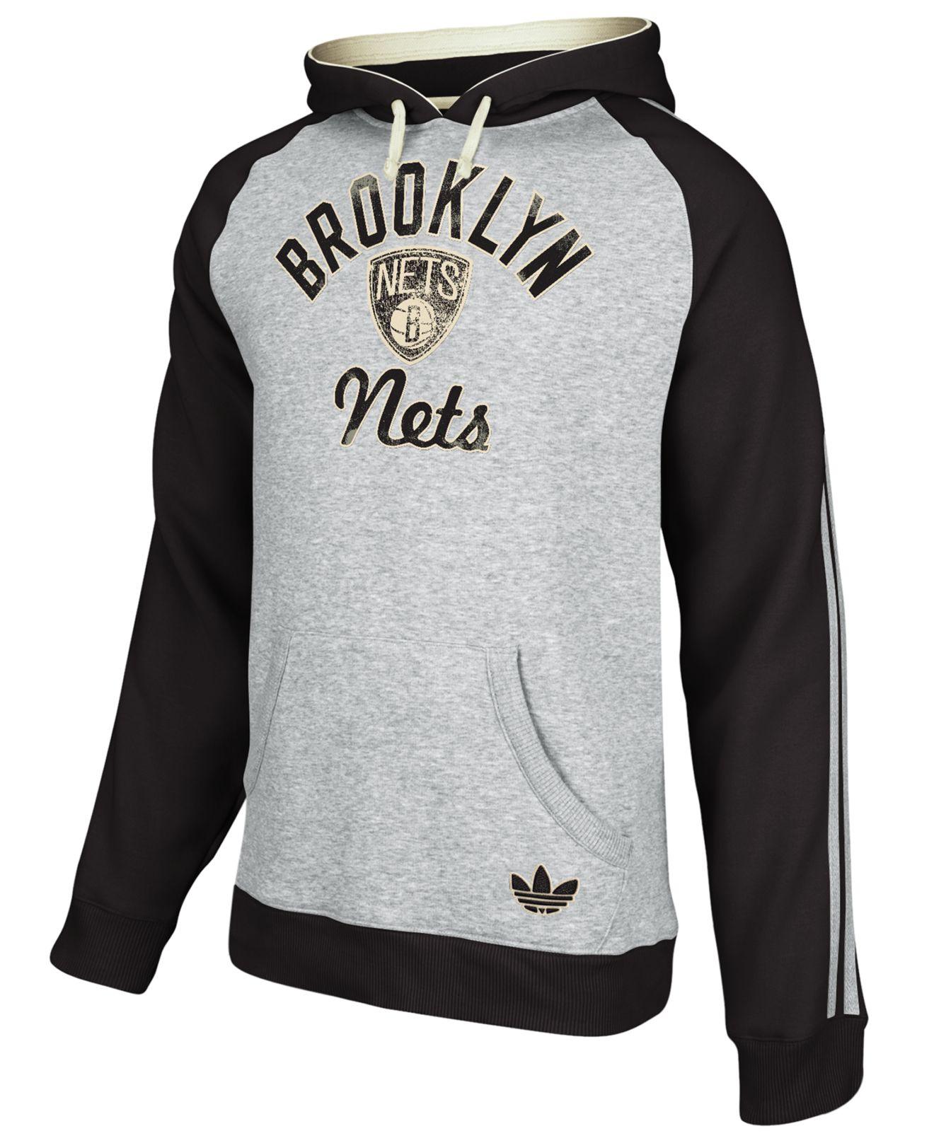 56919ae2e1f9 Lyst - adidas Men s Originals Nba Brooklyn Nets Hoodie in Gray for Men