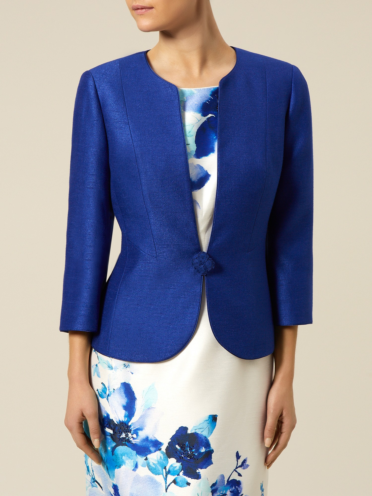 Jacques vert Petite One Button Jacket in Blue