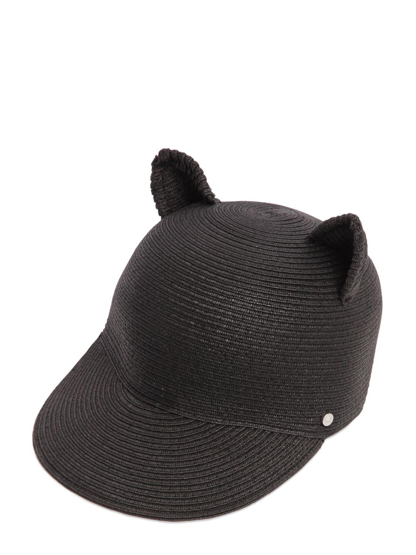 Lyst Karl Lagerfeld Choupette Ears Paper Baseball Hat In