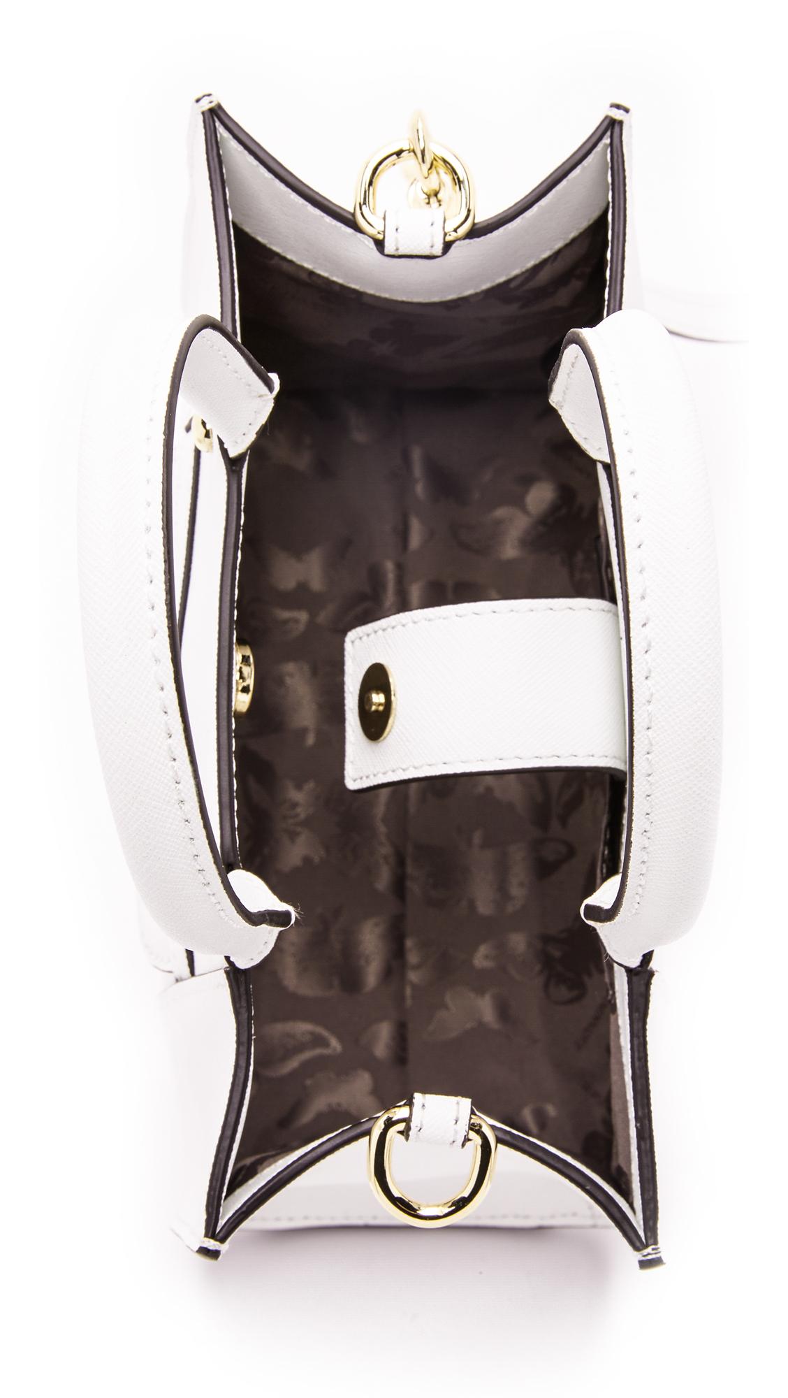 Rebecca Minkoff Leather Mini Mab Tote in White
