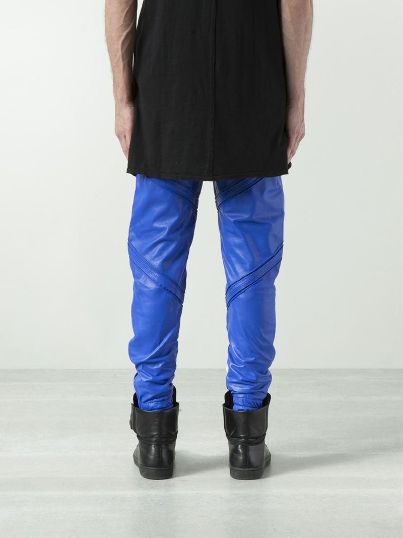 En Noir Pintuck Sweat Trouser in Blue for Men