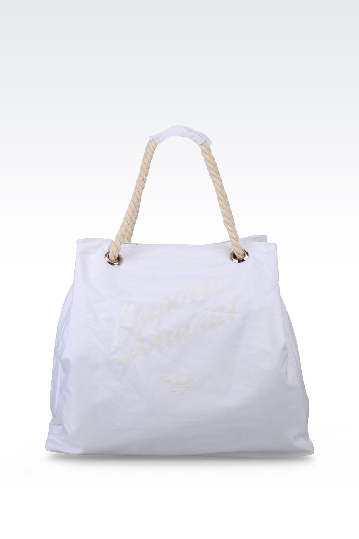 Emporio armani Beach Bag in White | Lyst