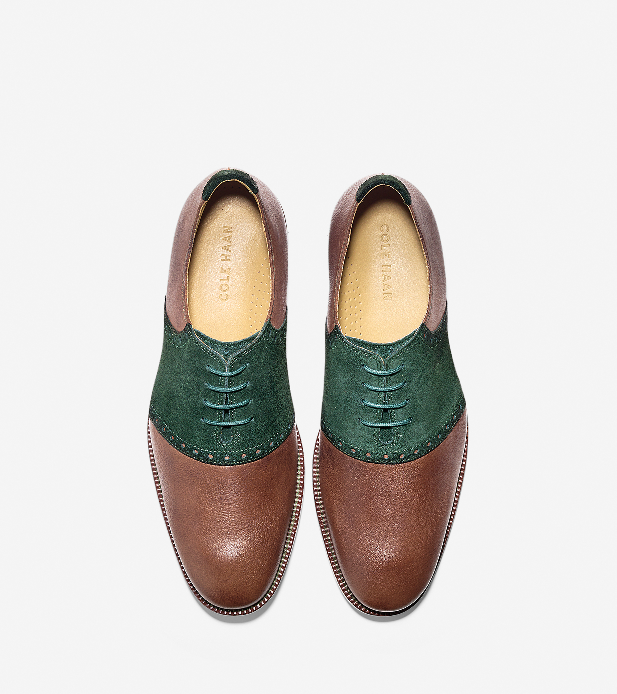 Lyst Cole Haan Williams Casual Saddle In Green For Men