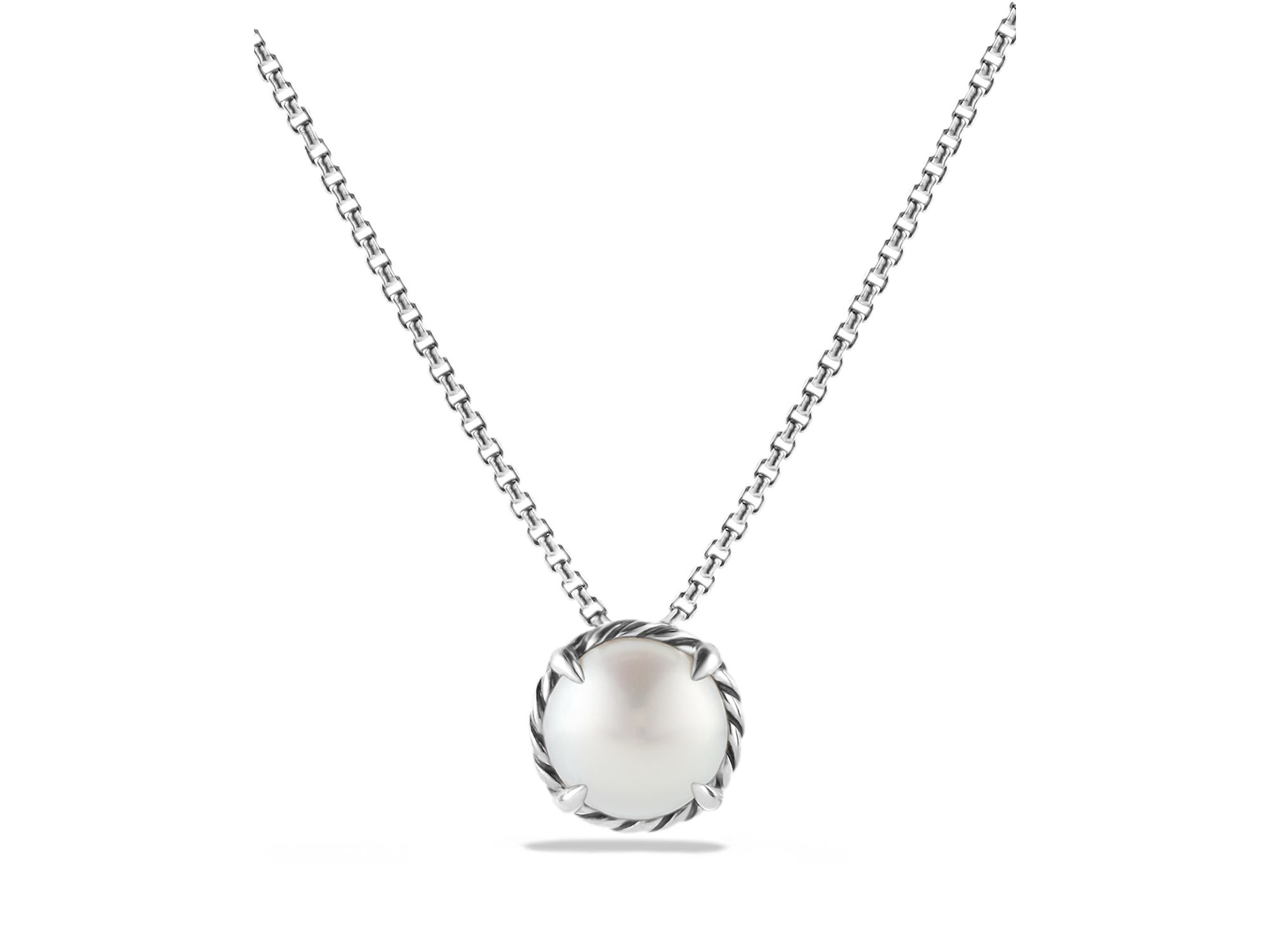 lyst david yurman chatelaine pendant necklace with pearl