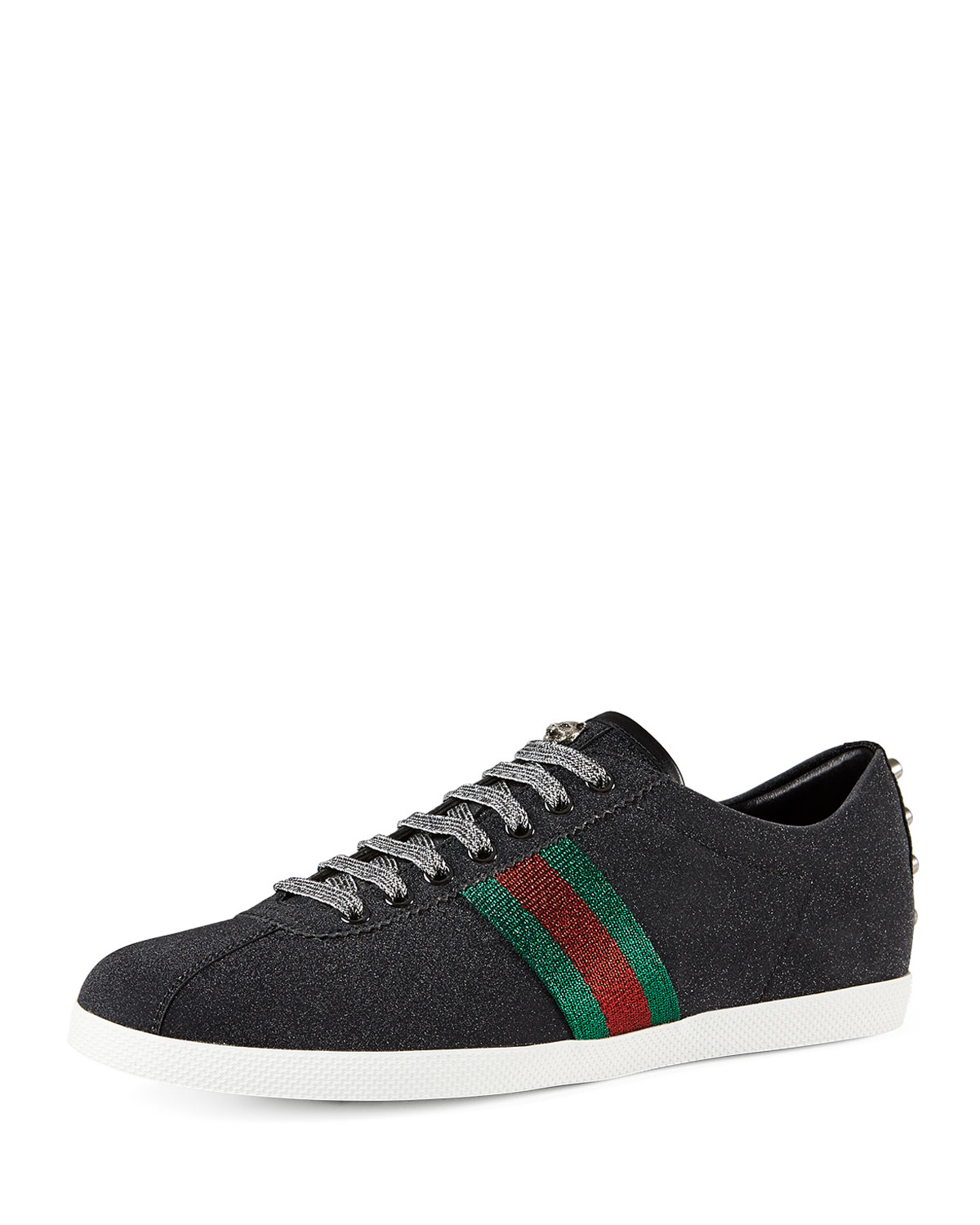 Lyst Gucci Bambi Web Low Top Sneaker With Stud Detail In