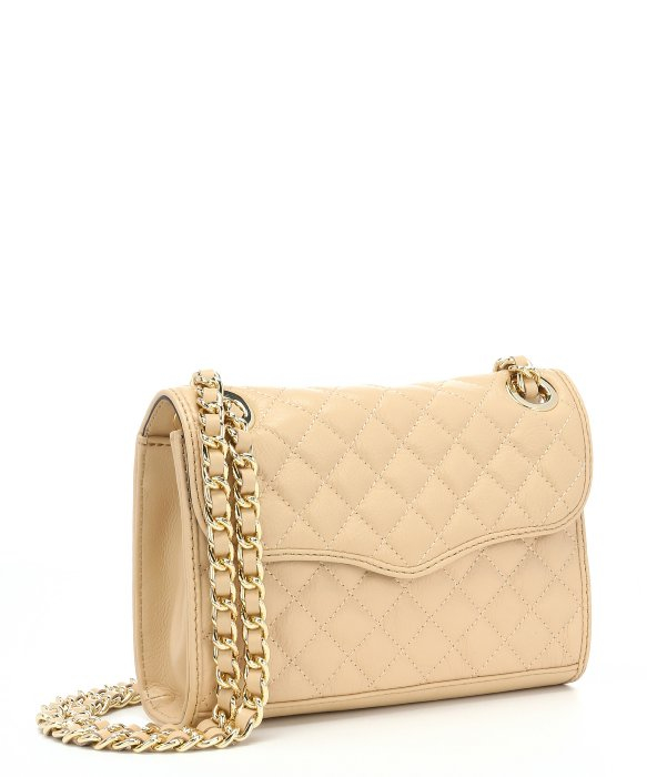 Rebecca minkoff Nude Leather 'quilted Mini Affair' Chain Shoulder ...