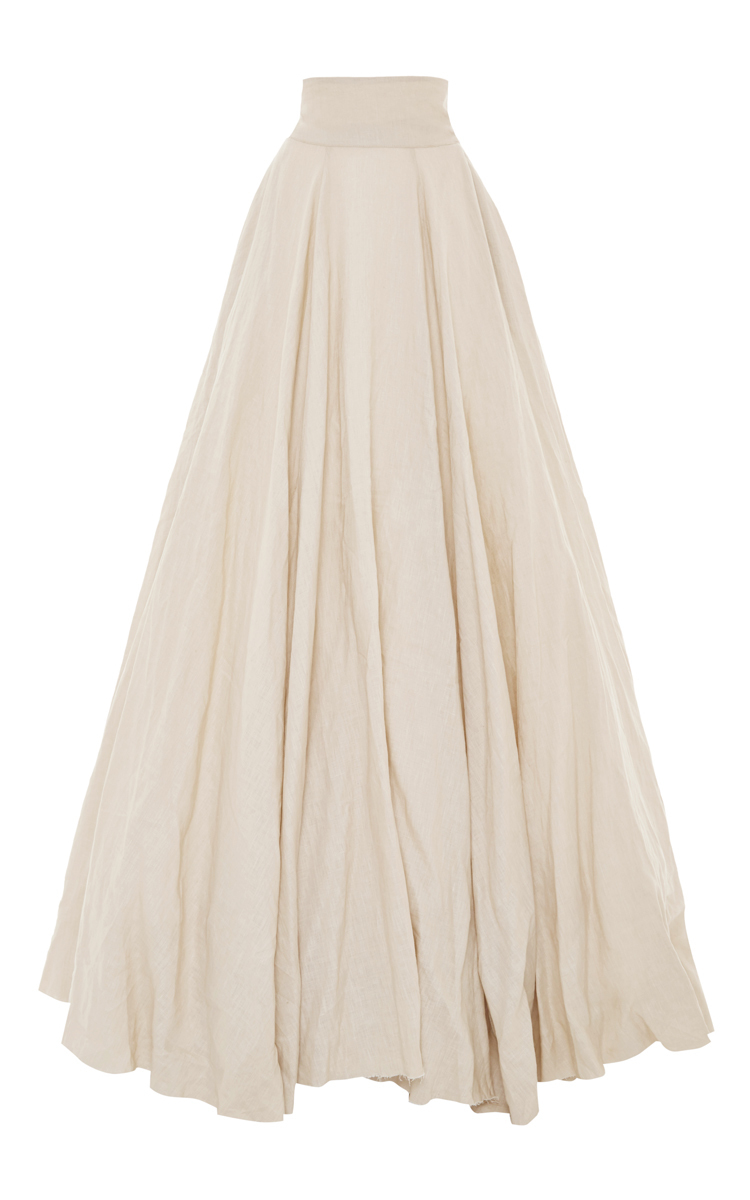 Luisa beccaria High Waist Long Skirt With Train in White | Lyst