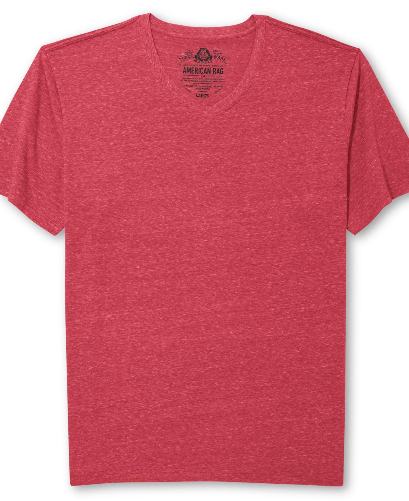 T Shirt Rag Dispenser ~ American rag solid tri blend t shirt in red for men lyst