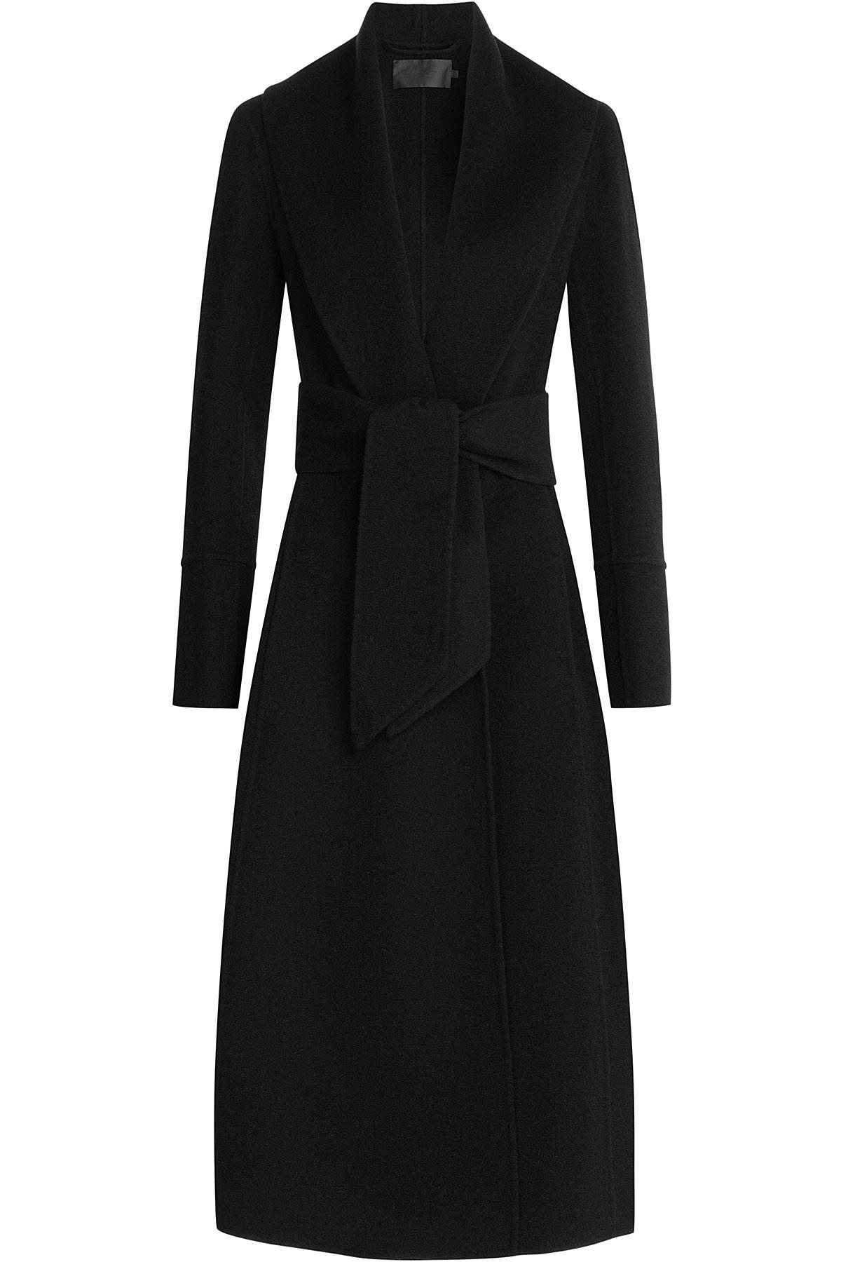 lyst donna karan cashmere coat black in black. Black Bedroom Furniture Sets. Home Design Ideas