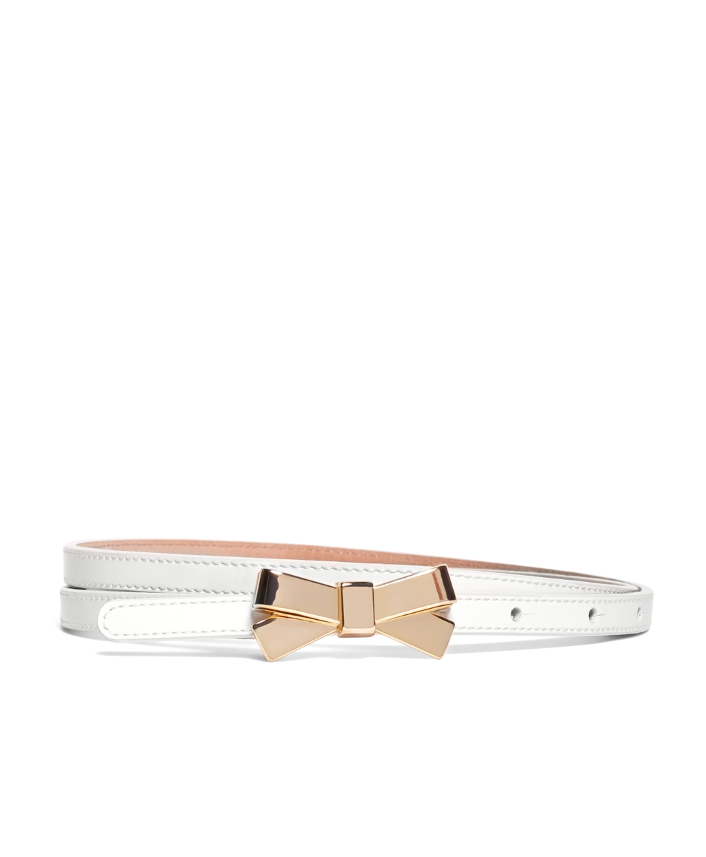 brothers patent leather belt in white lyst