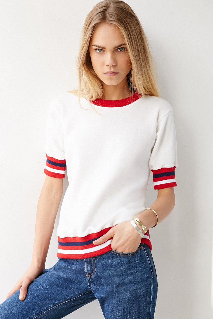 Clothes Ringer 2015 ~ Camp collection unit head ringer sweatshirt in red lyst