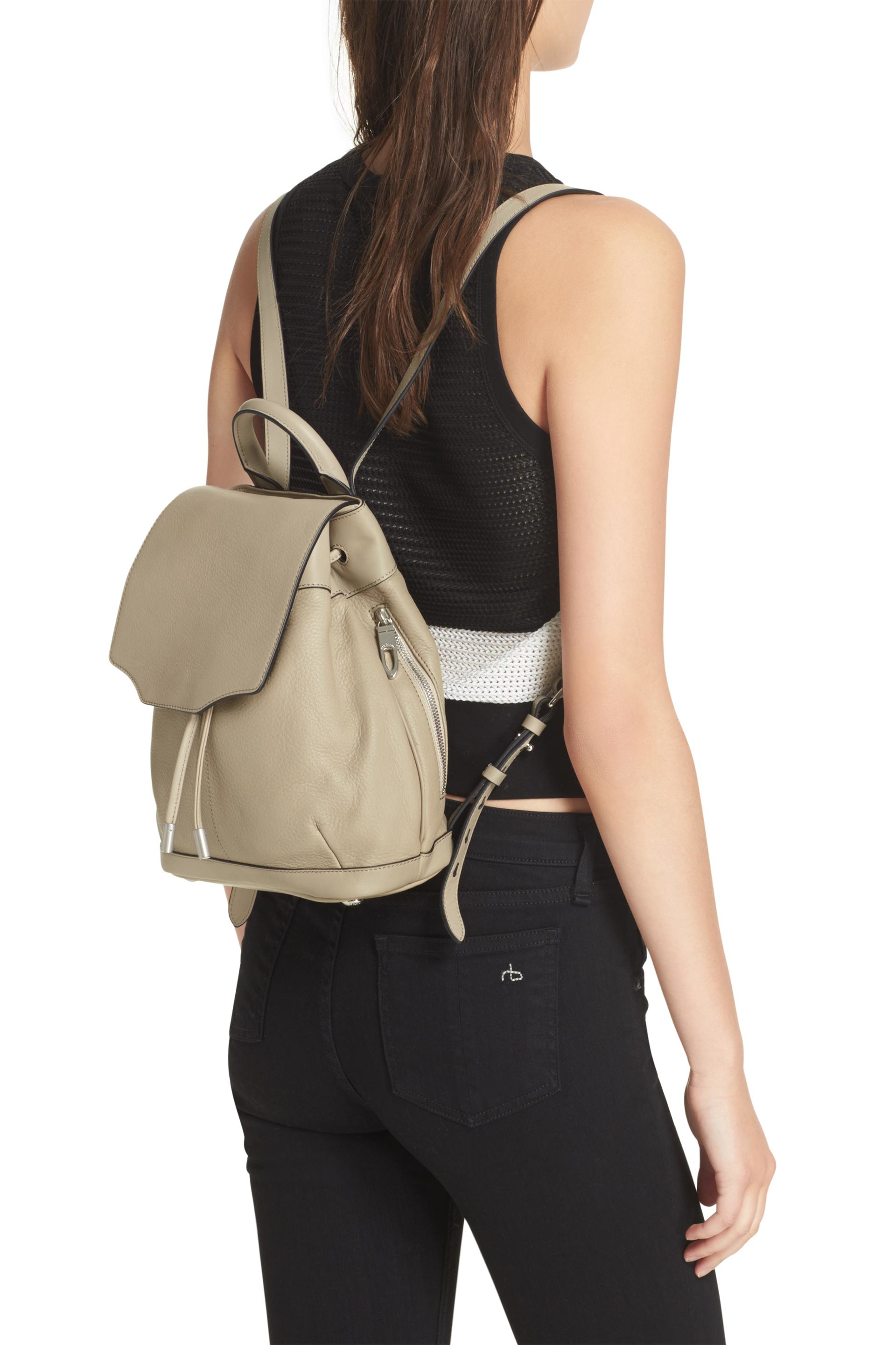 5579ff0298 Lyst - Rag   Bone Mini Pilot Backpack in Gray