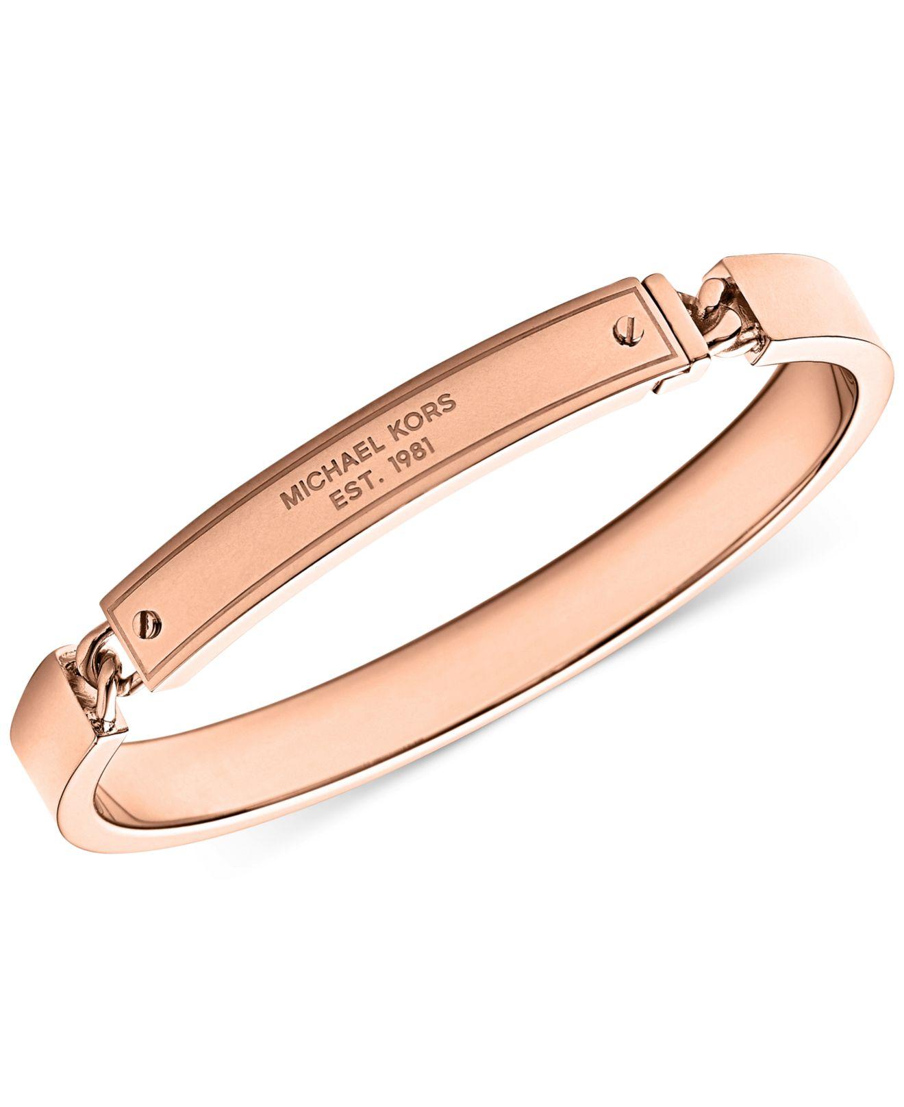 michael kors plaque curb hinge bangle bracelet a macys