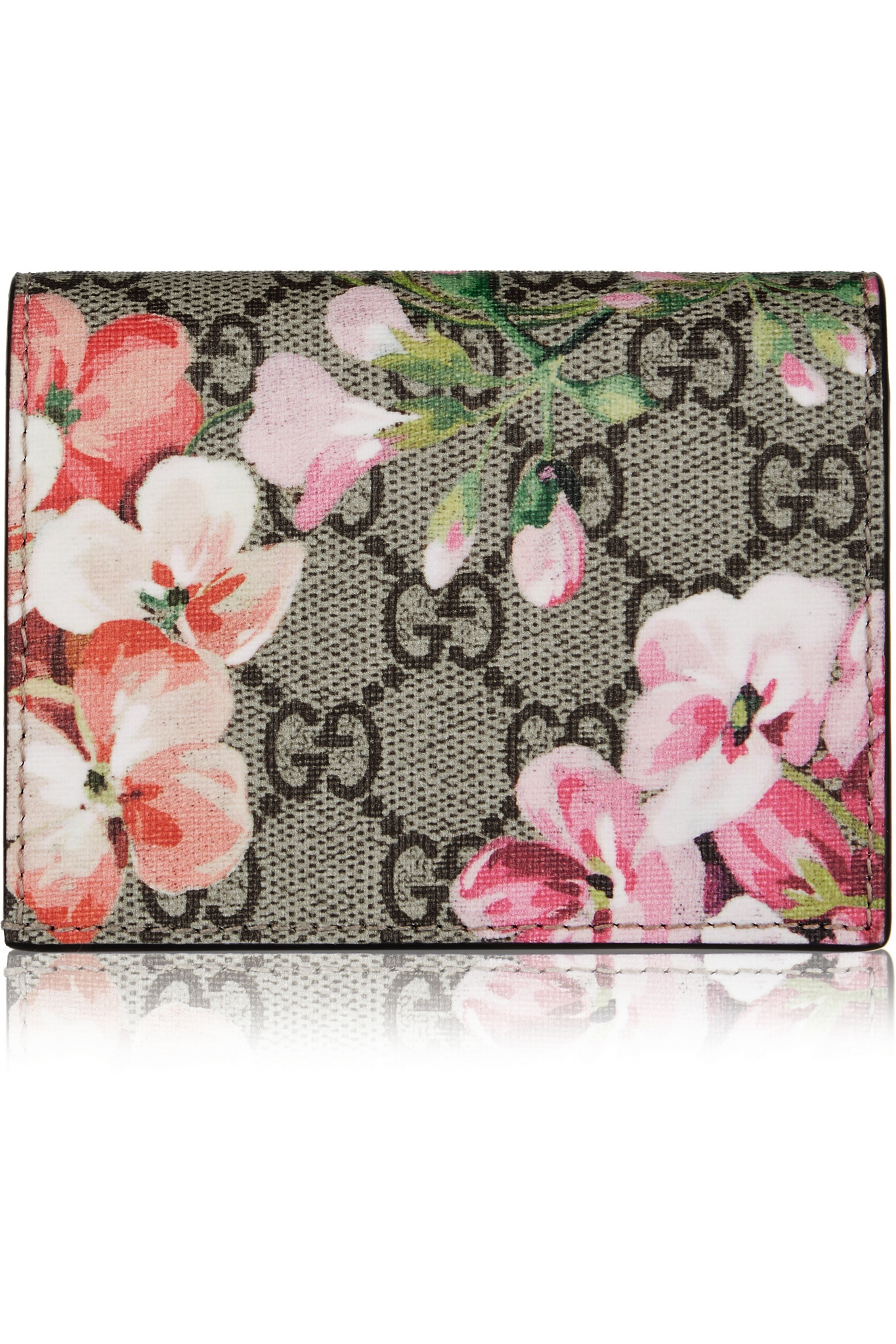 c6a5615870095c Gucci Gg Blooms Floral-print Canvas Cardholder in Pink - Lyst