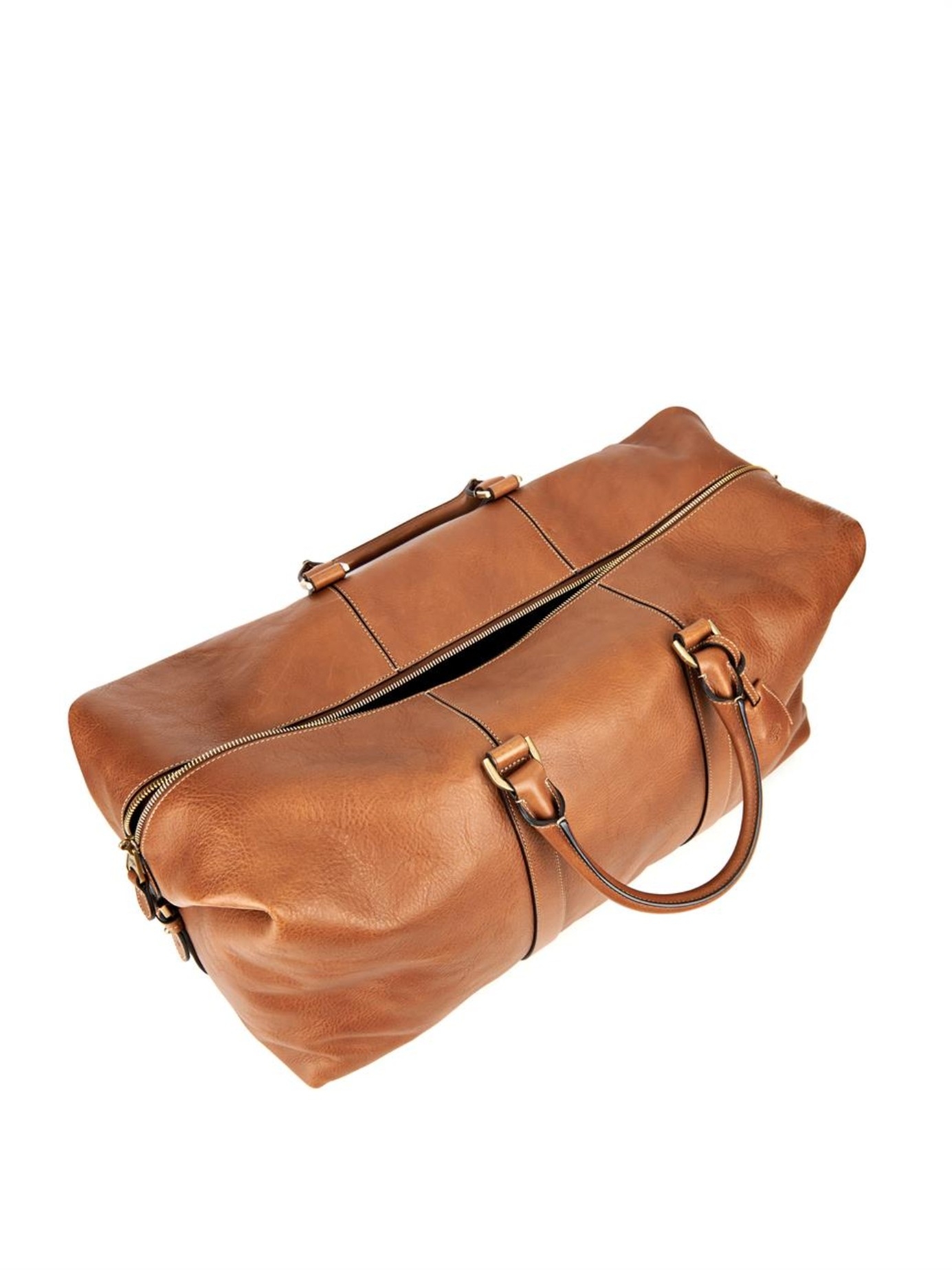 446909c01071 ... uk lyst mulberry clipper leather weekend bag in brown for men f2796  ab9c5