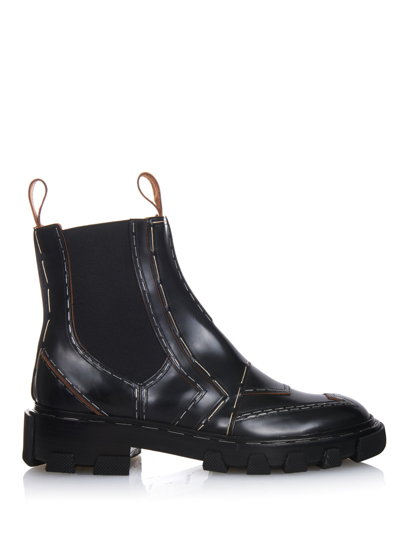 Lyst Balenciaga Exposed Stitch Leather Chelsea Boots In