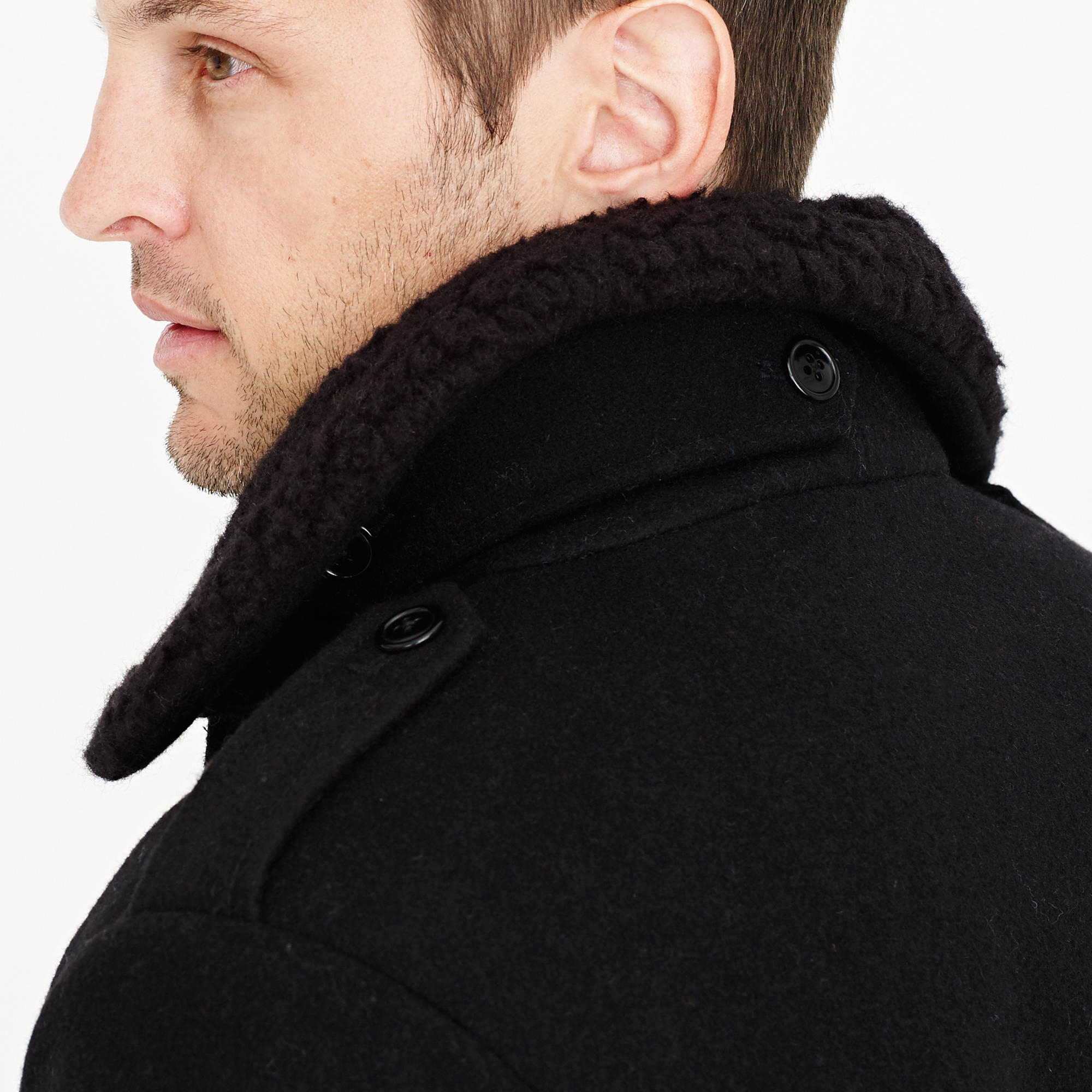 73618f3c1 J.Crew Black Wallace & Barnes Sherpa-collar Wool Bomber Jacket for men