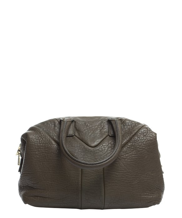 Saint laurent Pre-owned Ysl Olive Pebbled Leather Easy Bag in ...