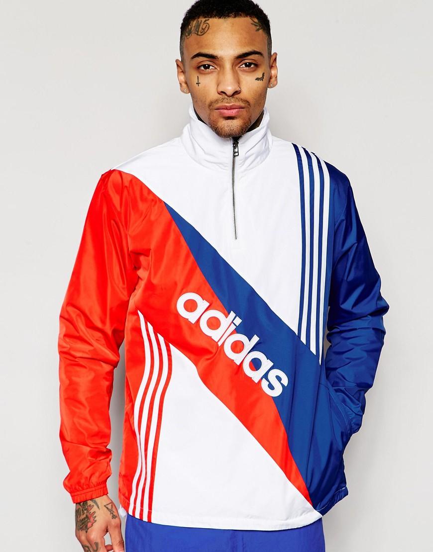 Lyst Adidas Originals Retro Windbreaker Jacket Aj7353 In