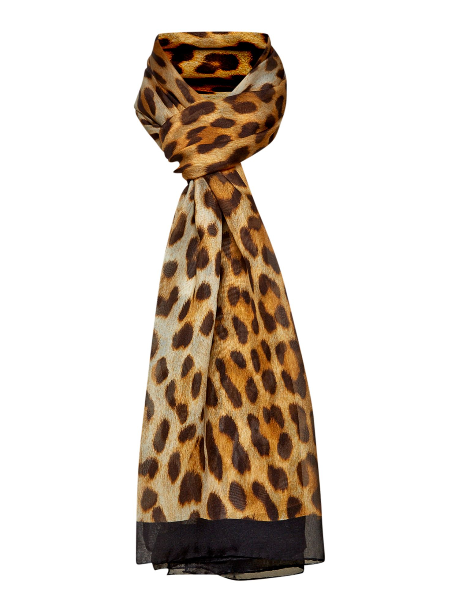 boutique moschino leopard print sheer silk oblong scarf lyst