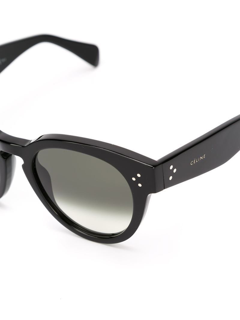celine handbags cost - C��line Chunky Frame Sunglasses in Black | Lyst