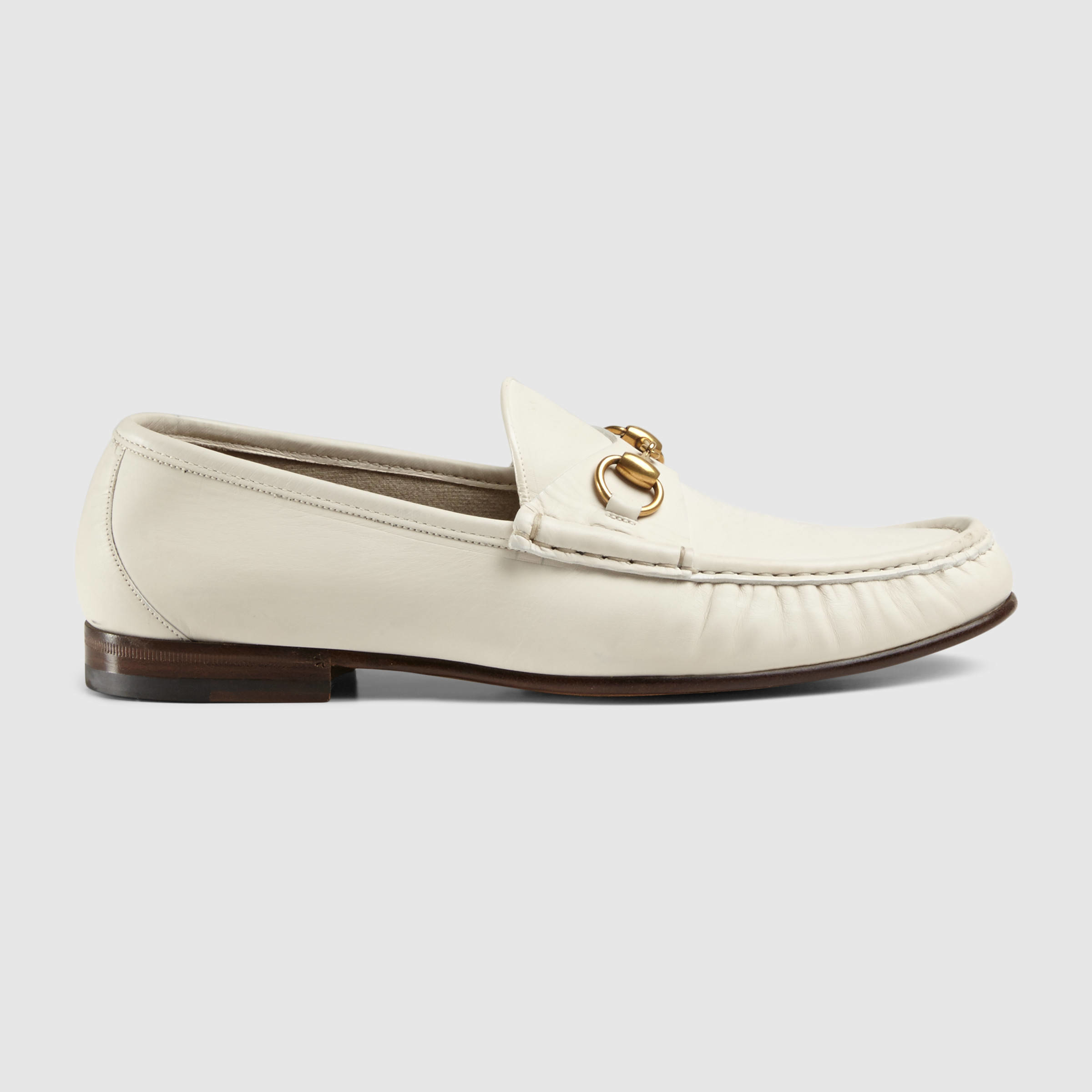 83923d0827e Gucci 1953 Horsebit Leather Loafer in White for Men - Lyst