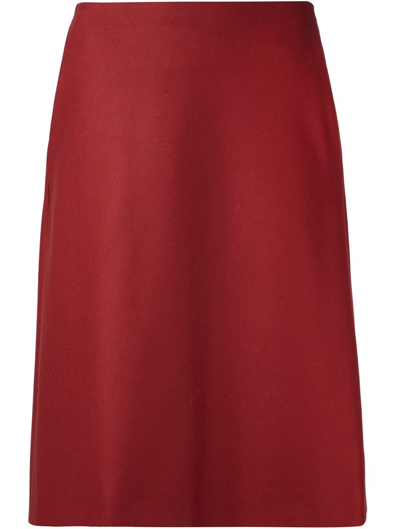 jil sander navy classic a line skirt in lyst