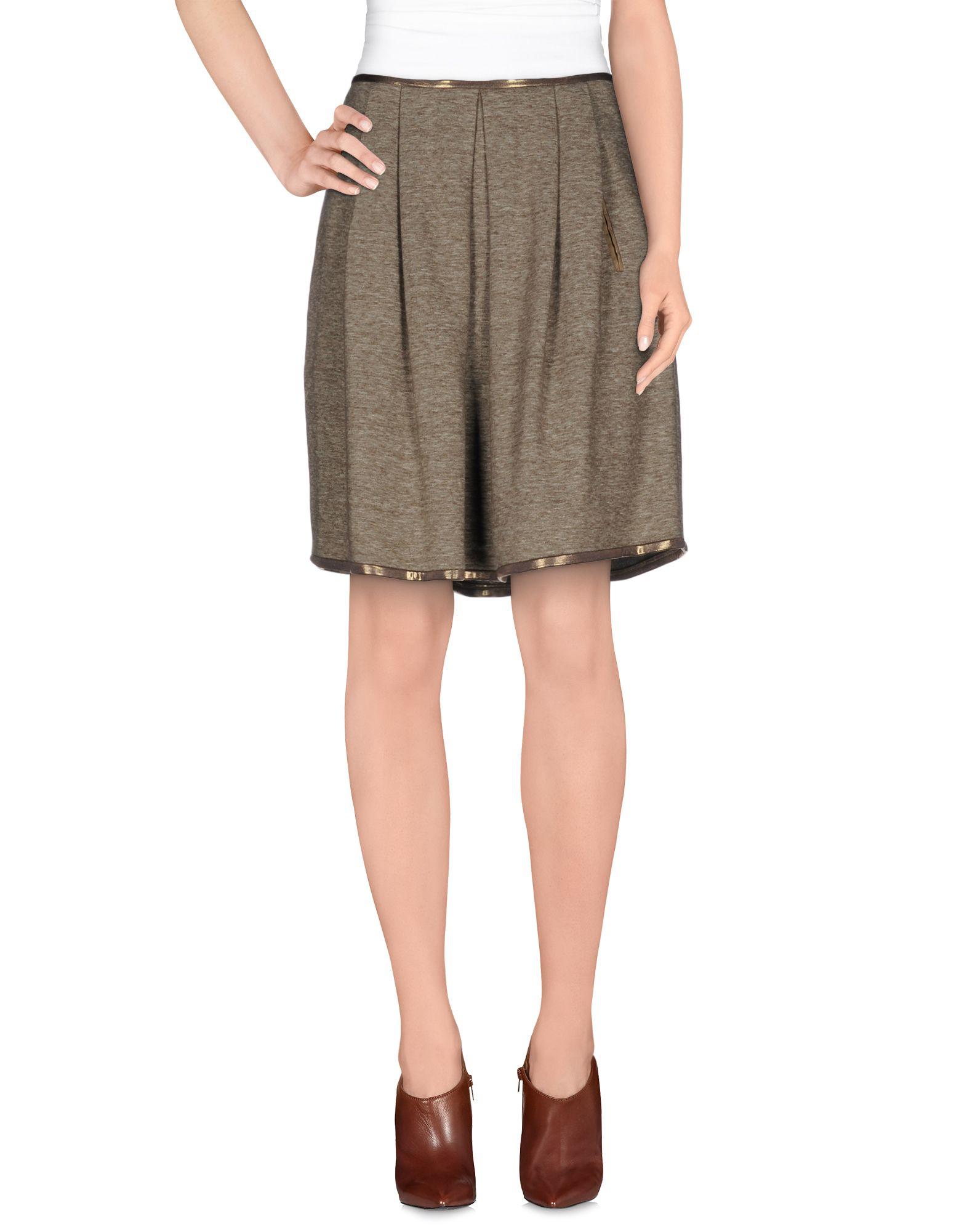 coast weber ahaus knee length skirt in khaki lyst