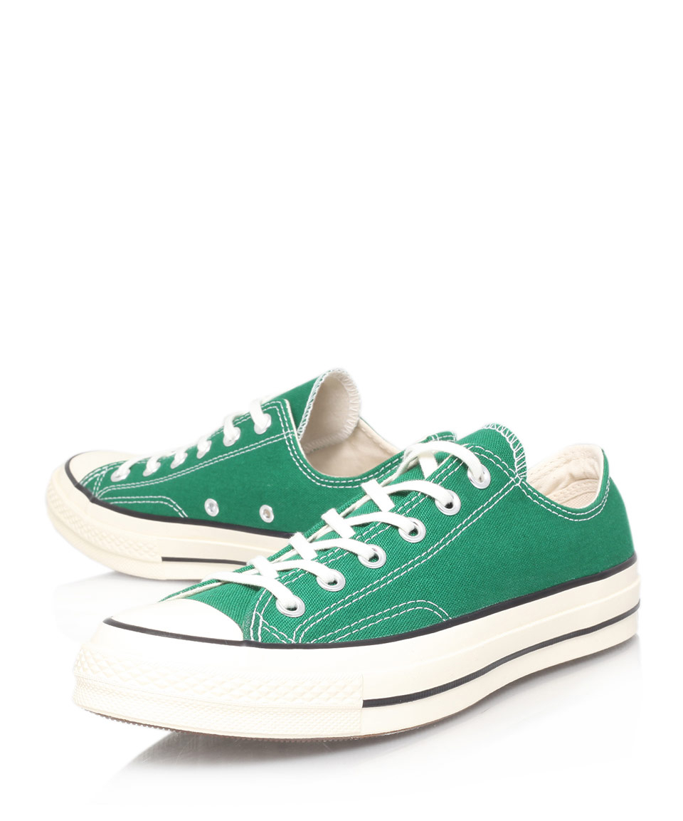 Lyst - Converse Green 70S Chuck Taylor Canvas Low Trainers in Green ... 8493b1840