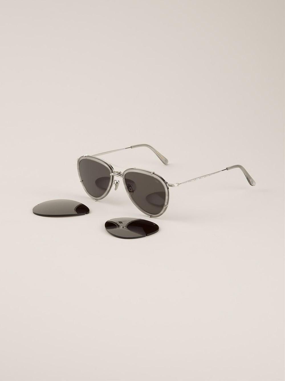 Eyevan 7285 Model 721' Sunglasses in Grey (Grey)